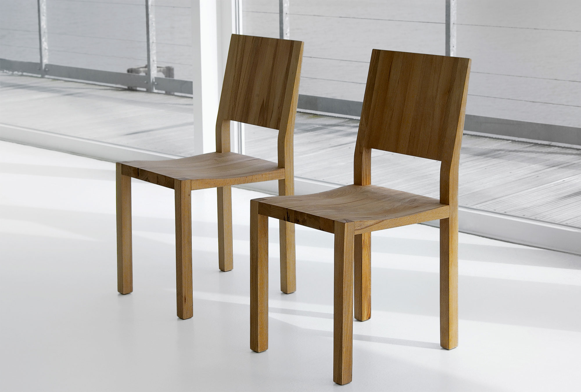 Solid Wood Chair TAU 1322 custom made in solid wood by vitamin design
