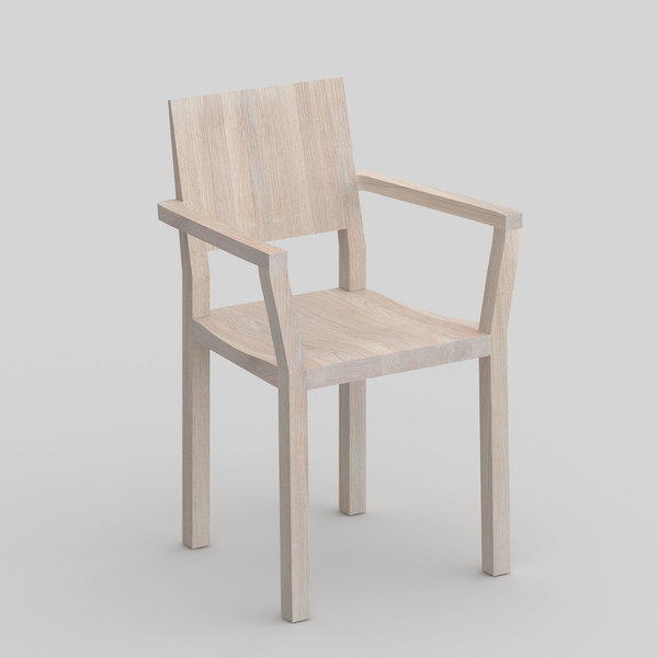 Solid Wood Armchair TAU-A cam1 custom made in solid wood by vitamin design