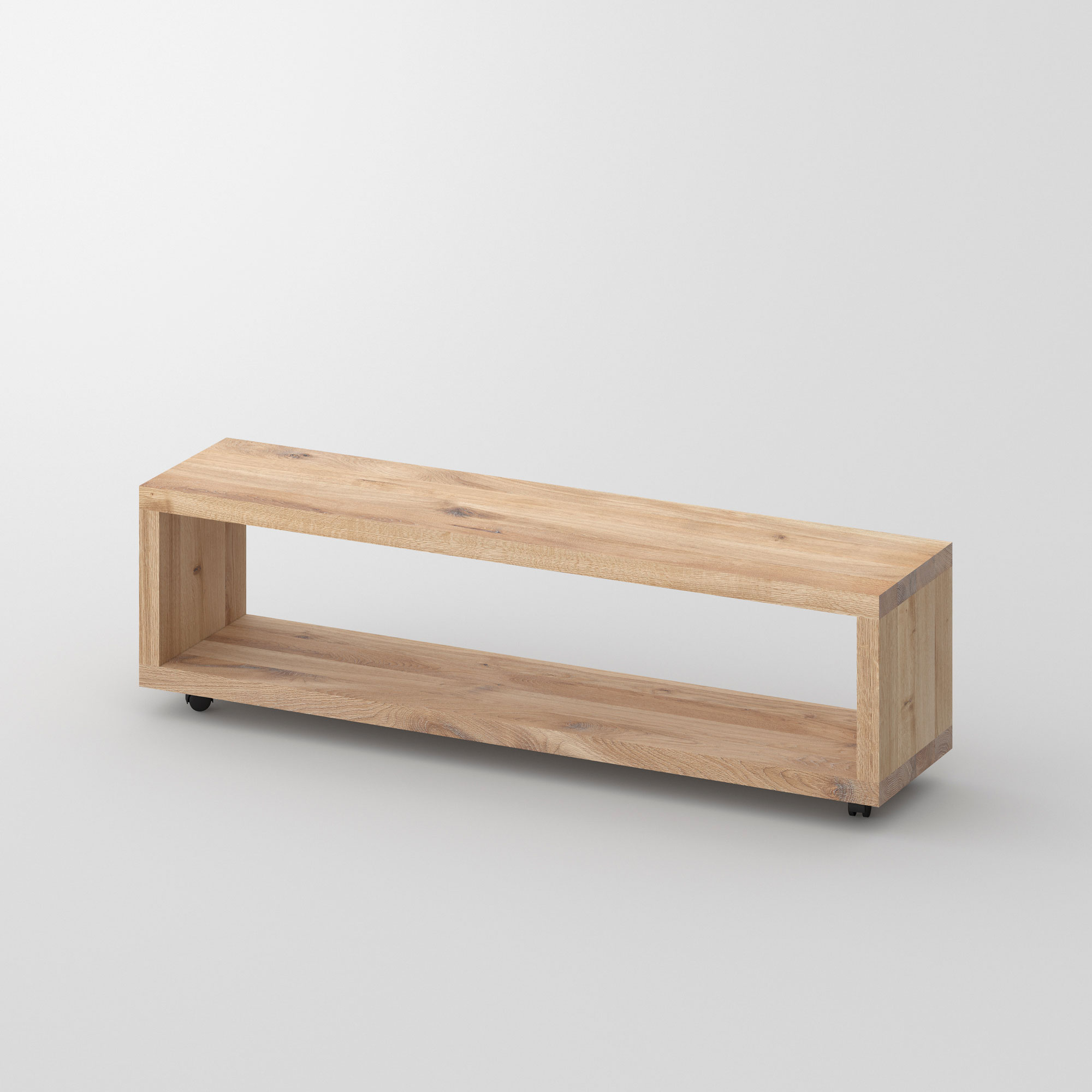 Rolling Night Table MENA-B-ROL cam1 custom made in solid wood by vitamin design