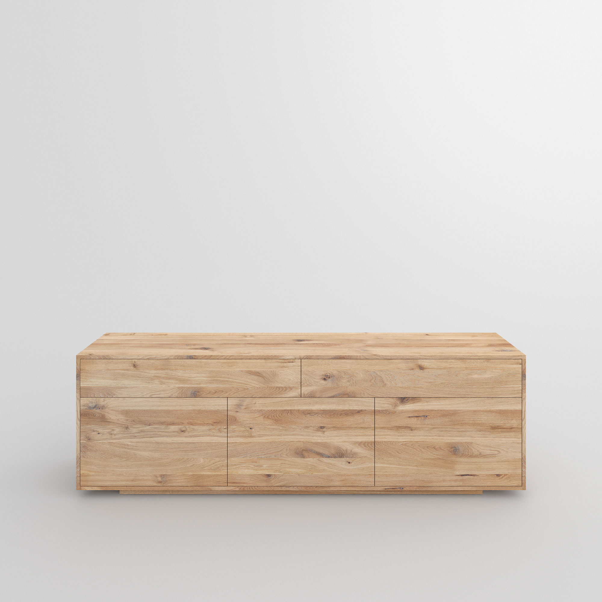 Wooden Designer Sideboard LINEA cam3 custom made in solid wood by vitamin design