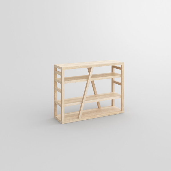Wooden Shelf FACHWERK cam1 custom made in solid wood by vitamin design