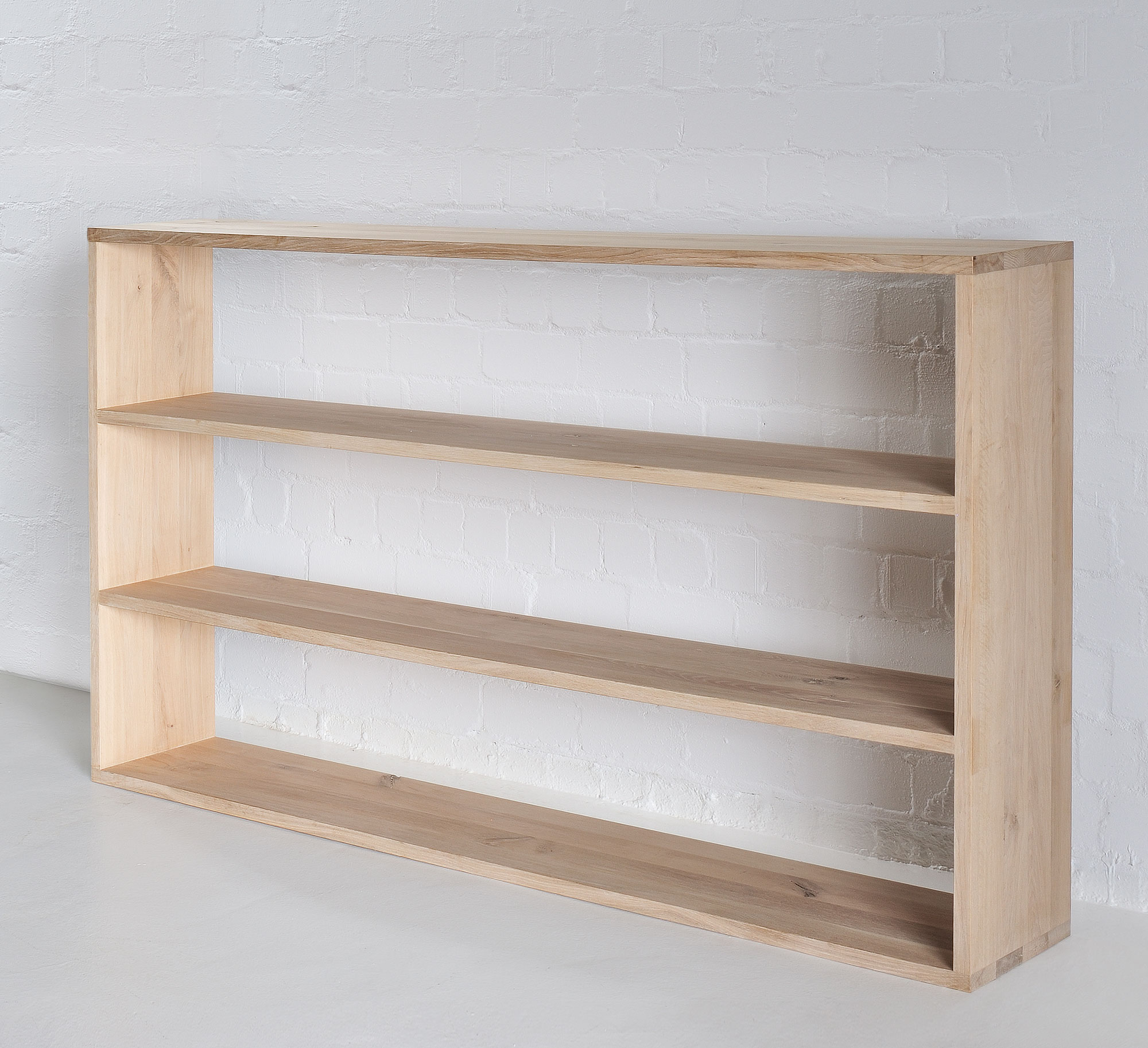 Wooden Shelf MENA 1 custom made in solid wood by vitamin design
