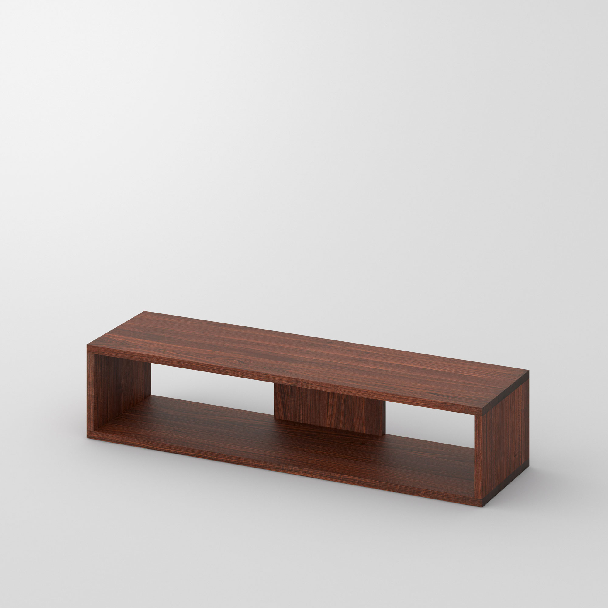 TV Shelf MENA TV cam1 custom made in solid wood by vitamin design