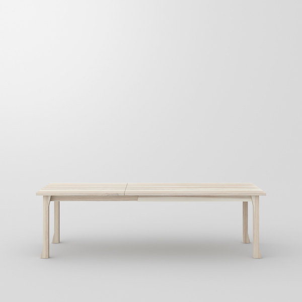 Extendable Solid Wood Table CAMPANA BUTTERFLY cam3 custom made in solid wood by vitamin design