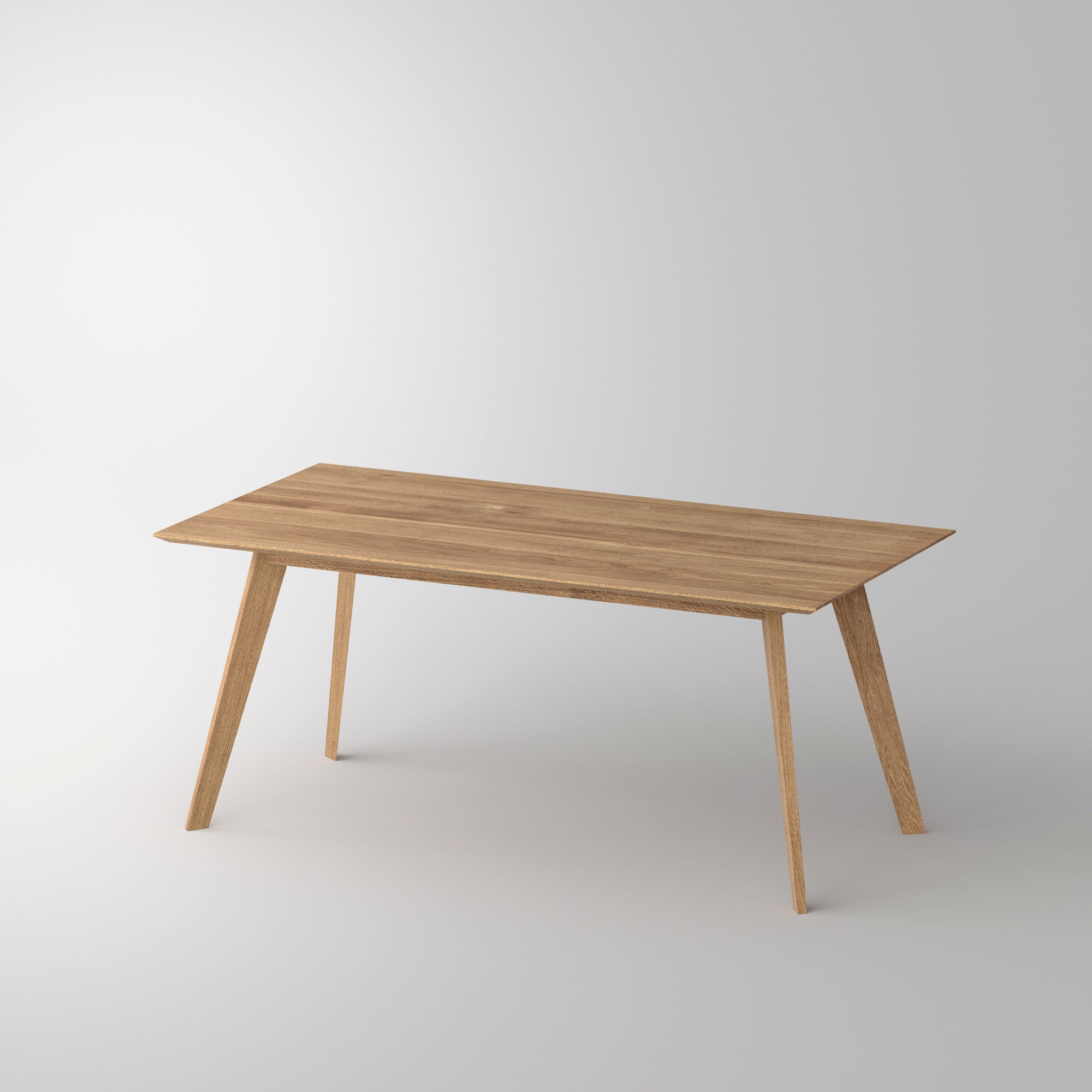 Solid Wood Dining Table CITIUS Cam1 custom made in solid wood by vitamin design