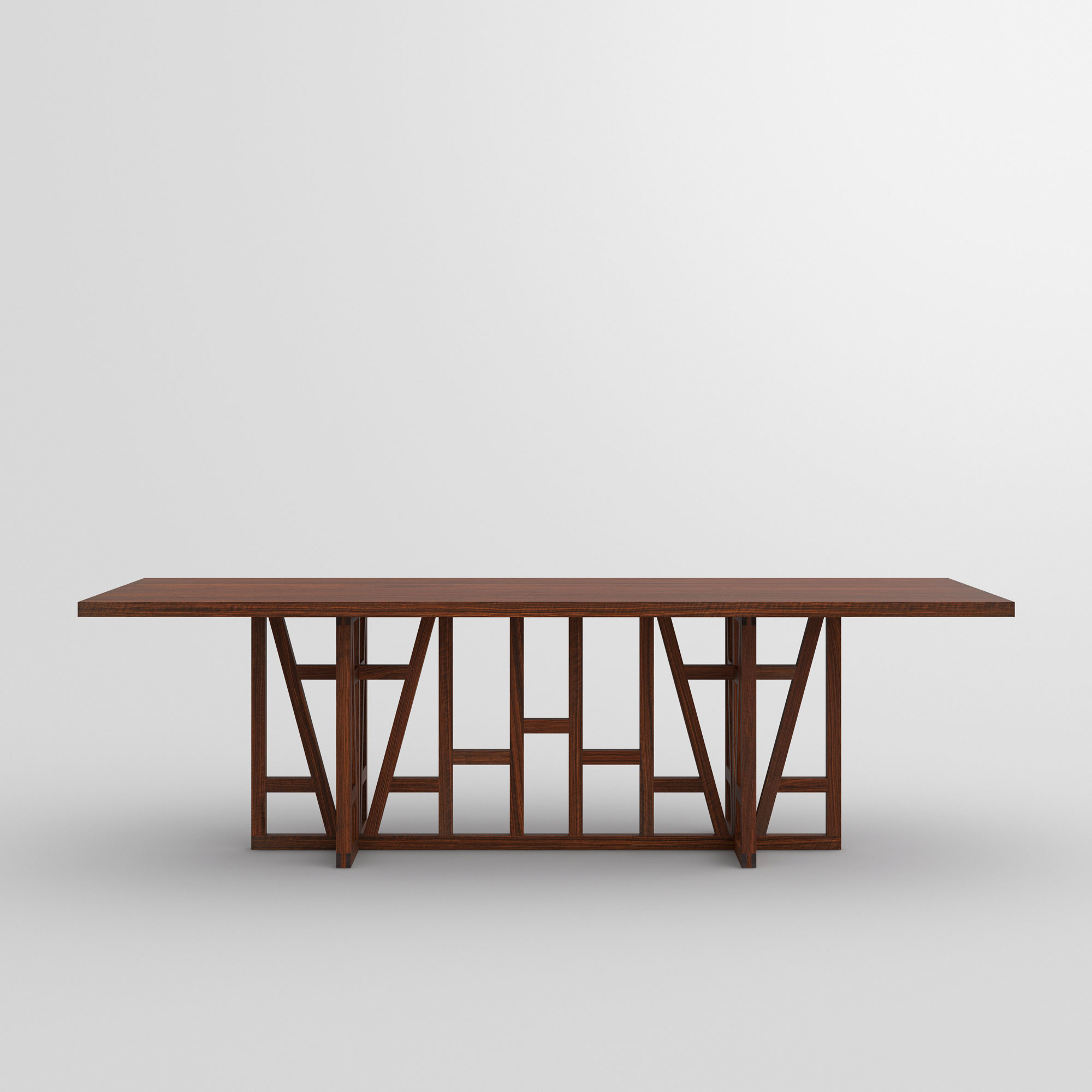 Designer Solid Wood Table FACHWERK cam2 custom made in solid wood by vitamin design