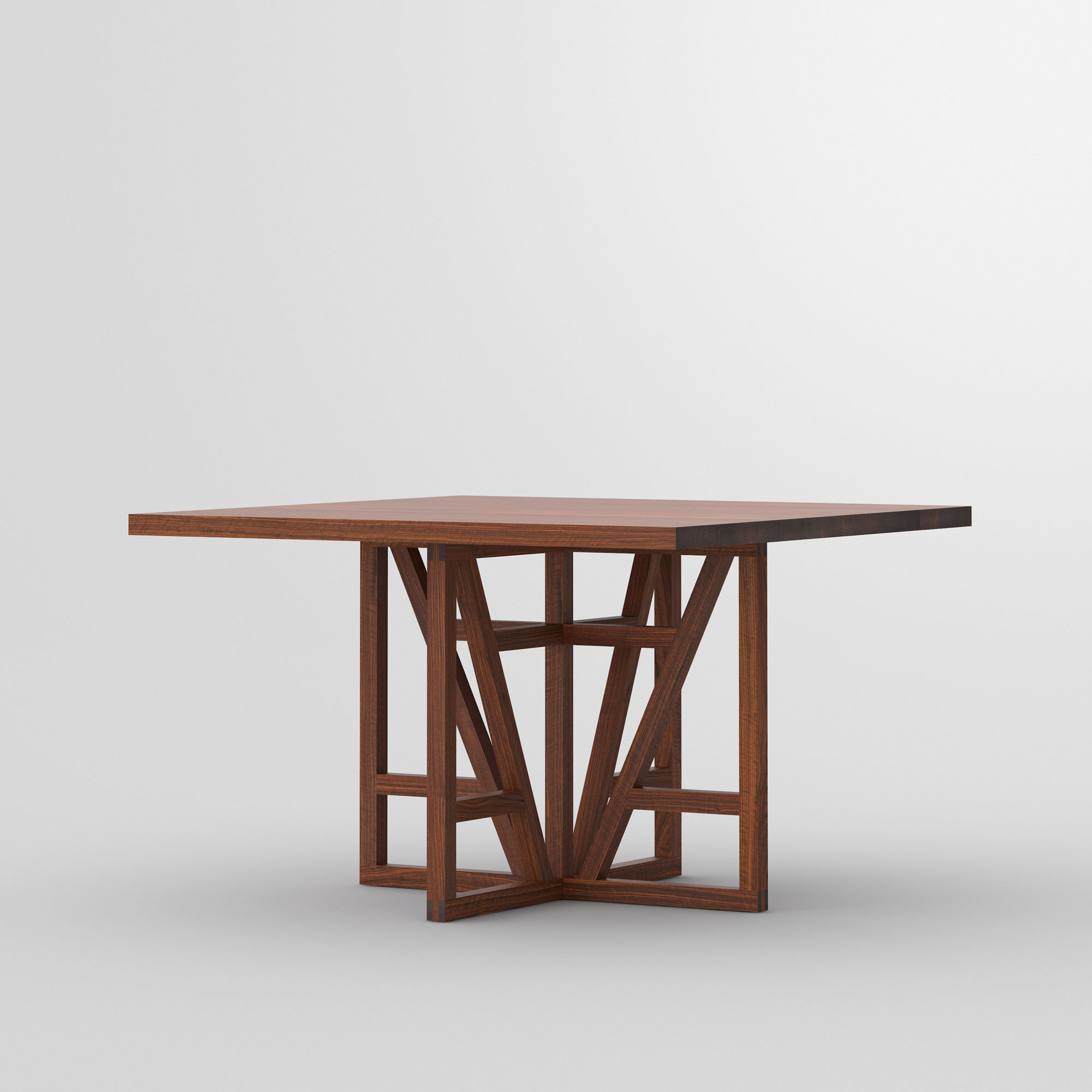 Square Designer Table FACHWERK SQUARE cam1 custom made in solid wood by vitamin design