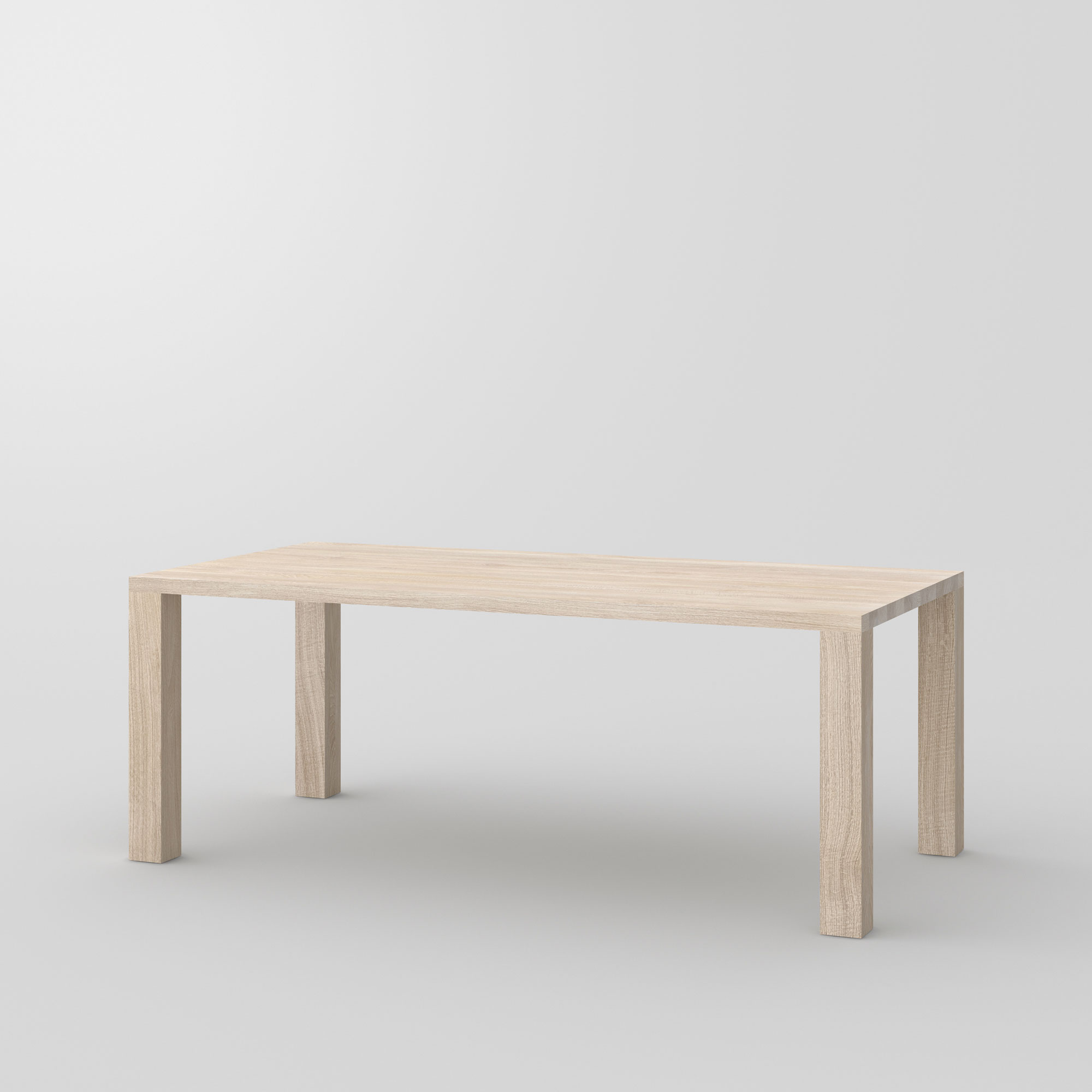 Frameless Solid Wood Table IUSTUS cam1 custom made in solid wood by vitamin design