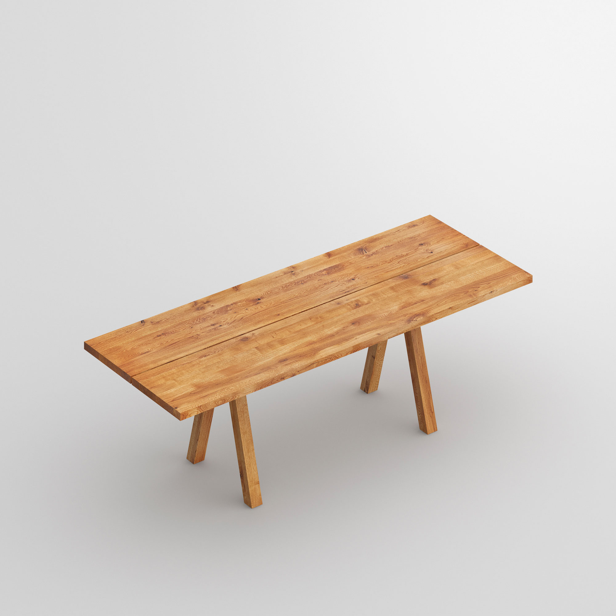 Solid Wood Table PAPILIO BASIC cam1 custom made in solid wood by vitamin design