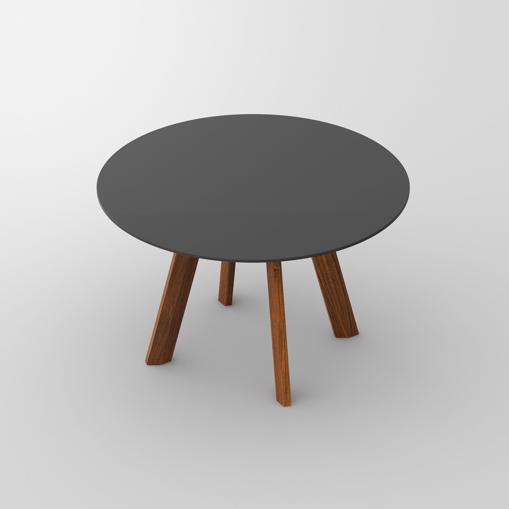 Round Linoleum Table RHOMBI ROUND LINO cam3 custom made in solid wood by vitamin design