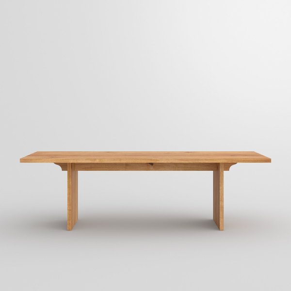 Gable Solid Wood Table SAGA cam3 custom made in solid wood by vitamin design