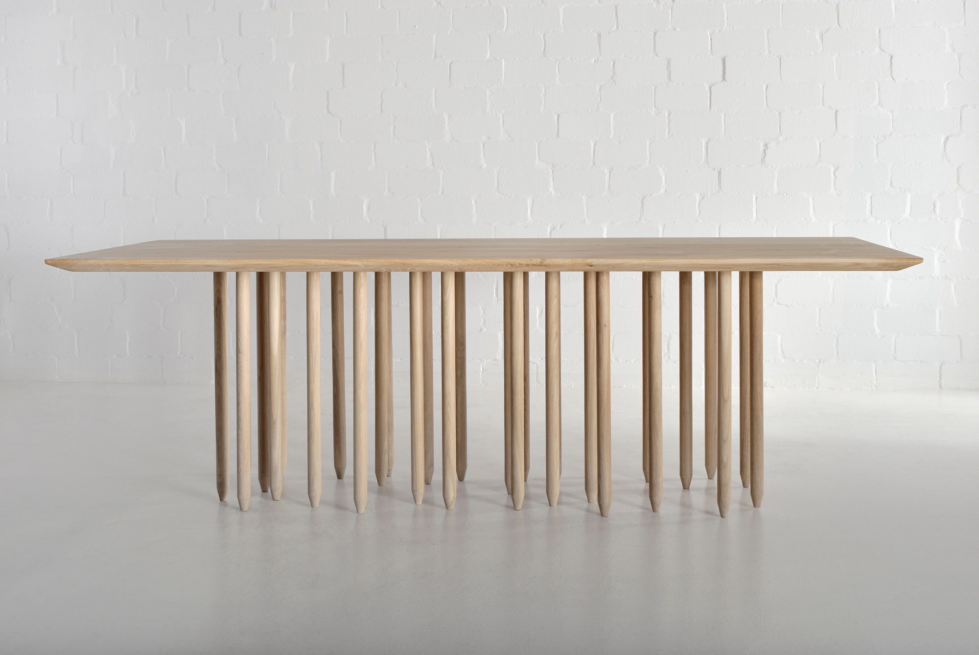 Designer Solid Wood Table STILUS 4347 custom made in solid wood by vitamin design