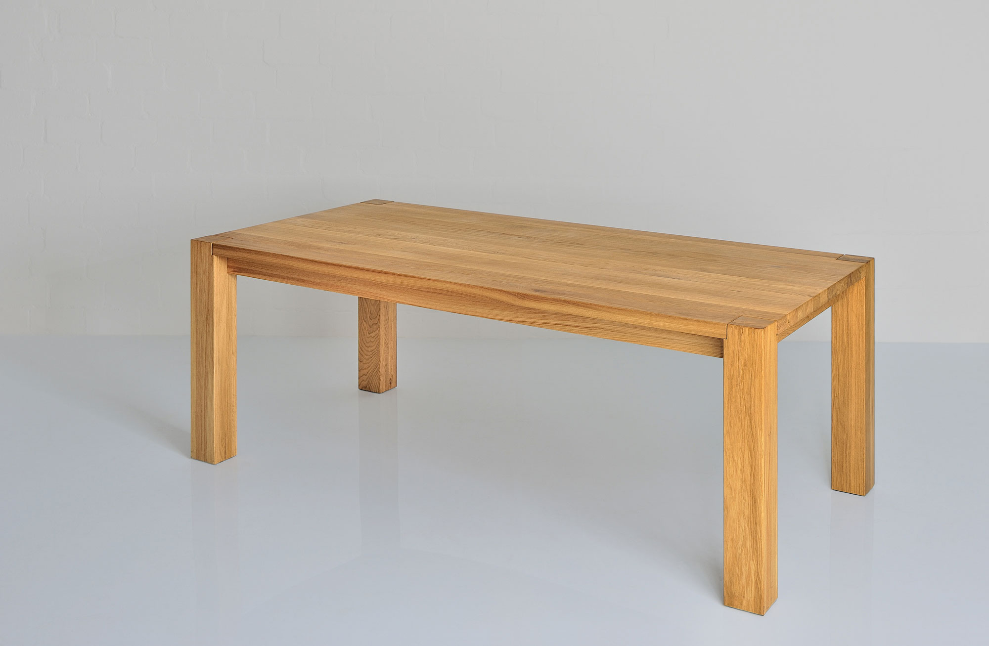 Rustic Oak Table TAURUS 4 B11X11 1111 custom made in solid wood by vitamin design