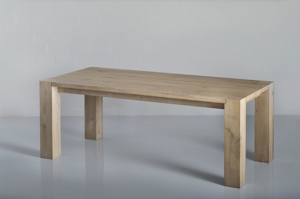Rustic Solid Wood Table TAURUS 4 B14X14 1558 custom made in solid wood by vitamin design