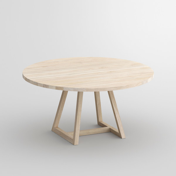 Table MARGO ROUND cam1 custom made in solid wood by vitamin design