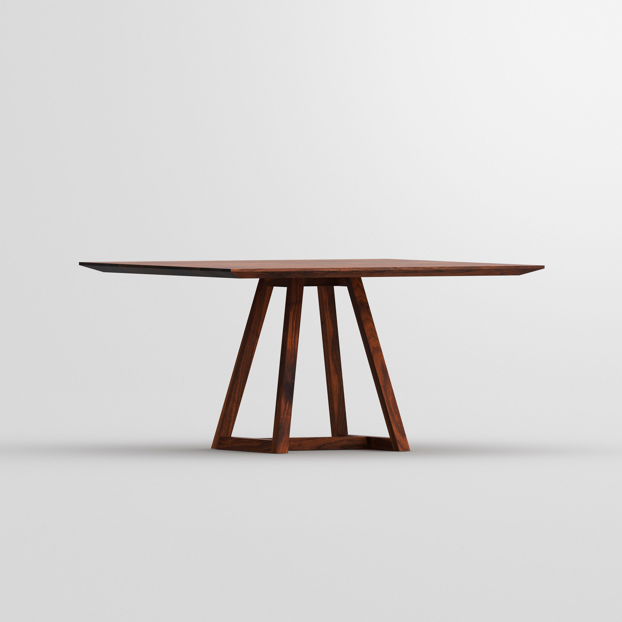 Square Table MARGO SQUARE cam2 custom made in solid wood by vitamin design
