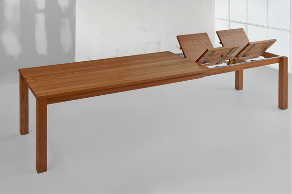 Extendable Dining Table FORTE BUTTERFLY 1080c custom made in solid wood by vitamin design