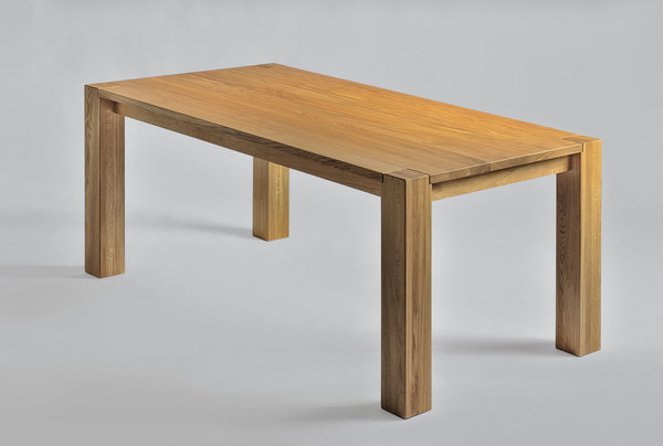 Rustic Oak Dining Table TAURUS 3 1312s custom made in solid wood by vitamin design
