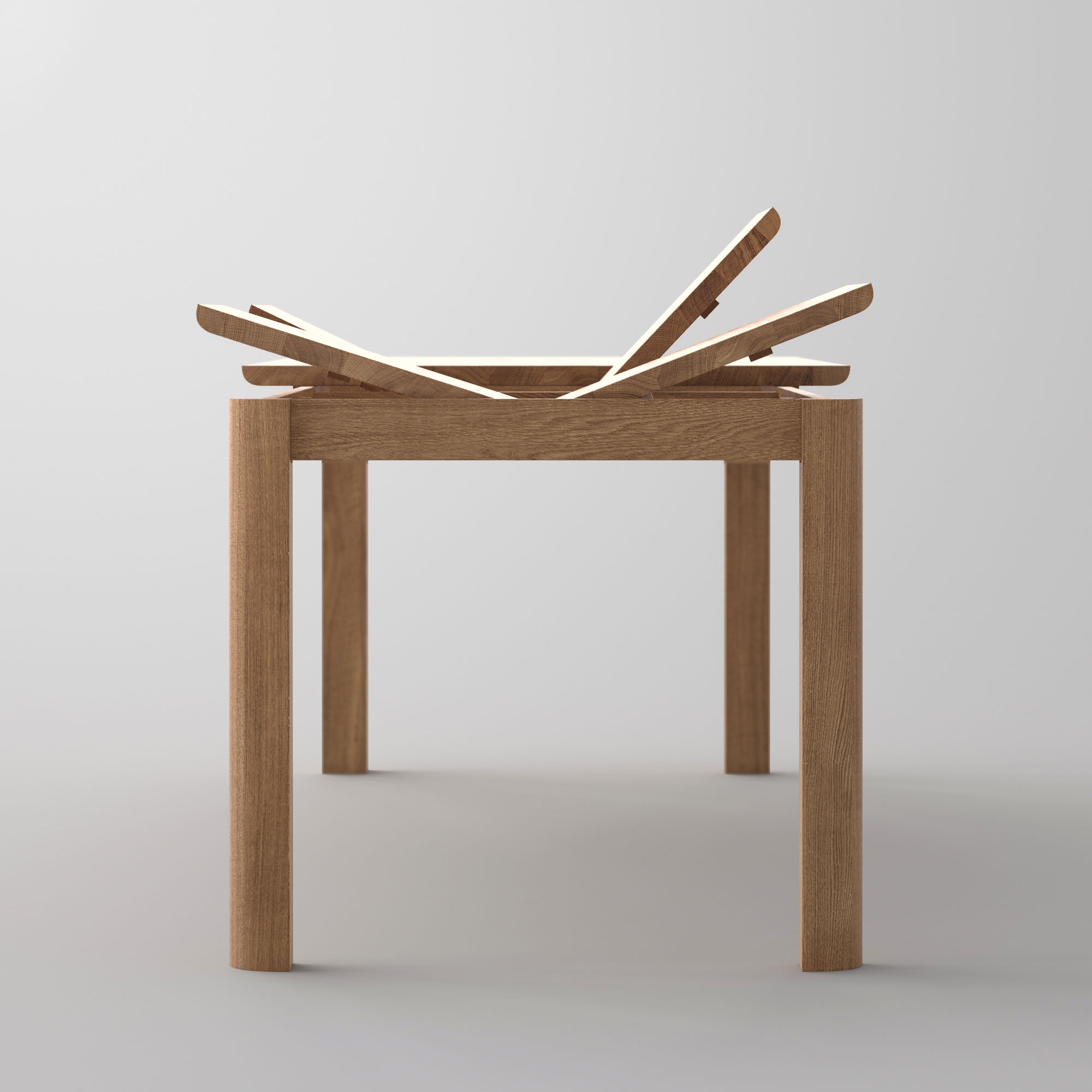 Extendable Dining Table VIVUS BUTTERFLY cam1a custom made in solid wood by vitamin design