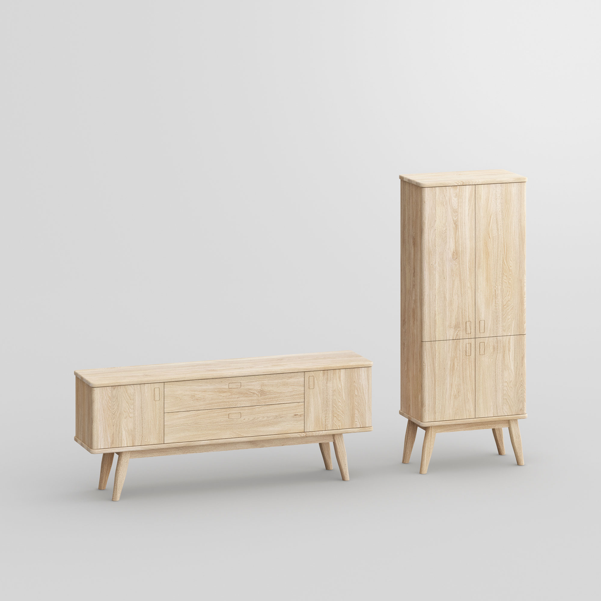 Solid Wood Cupboard Sideboard AETAS SPACE vitamin-design custom made in solid wood by vitamin design