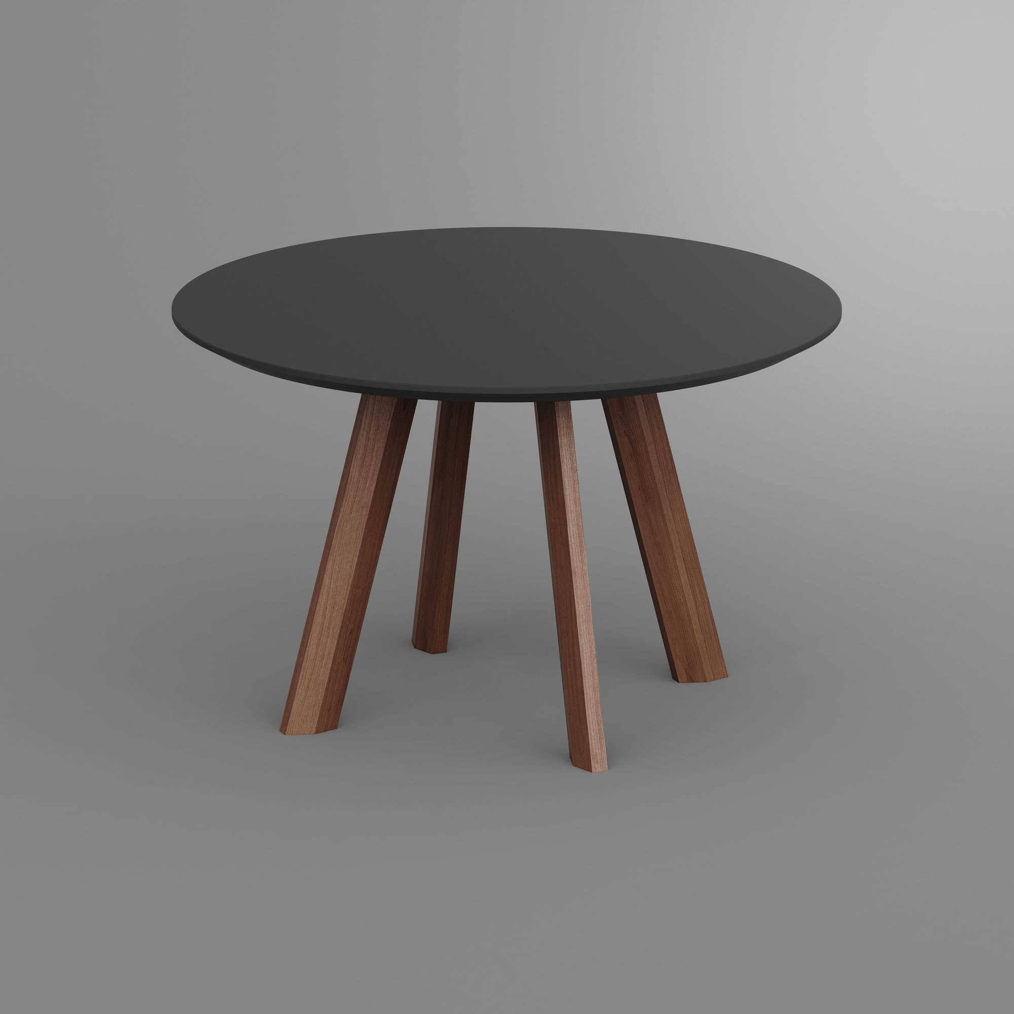 Round Linoleum Table RHOMBI ROUND LINO rhombi1 custom made in solid wood by vitamin design