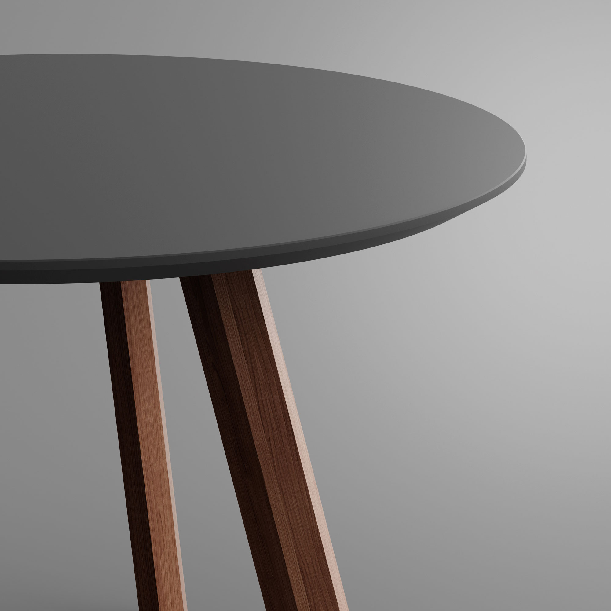 Round Linoleum Table RHOMBI ROUND LINO 3 custom made in solid wood by vitamin design