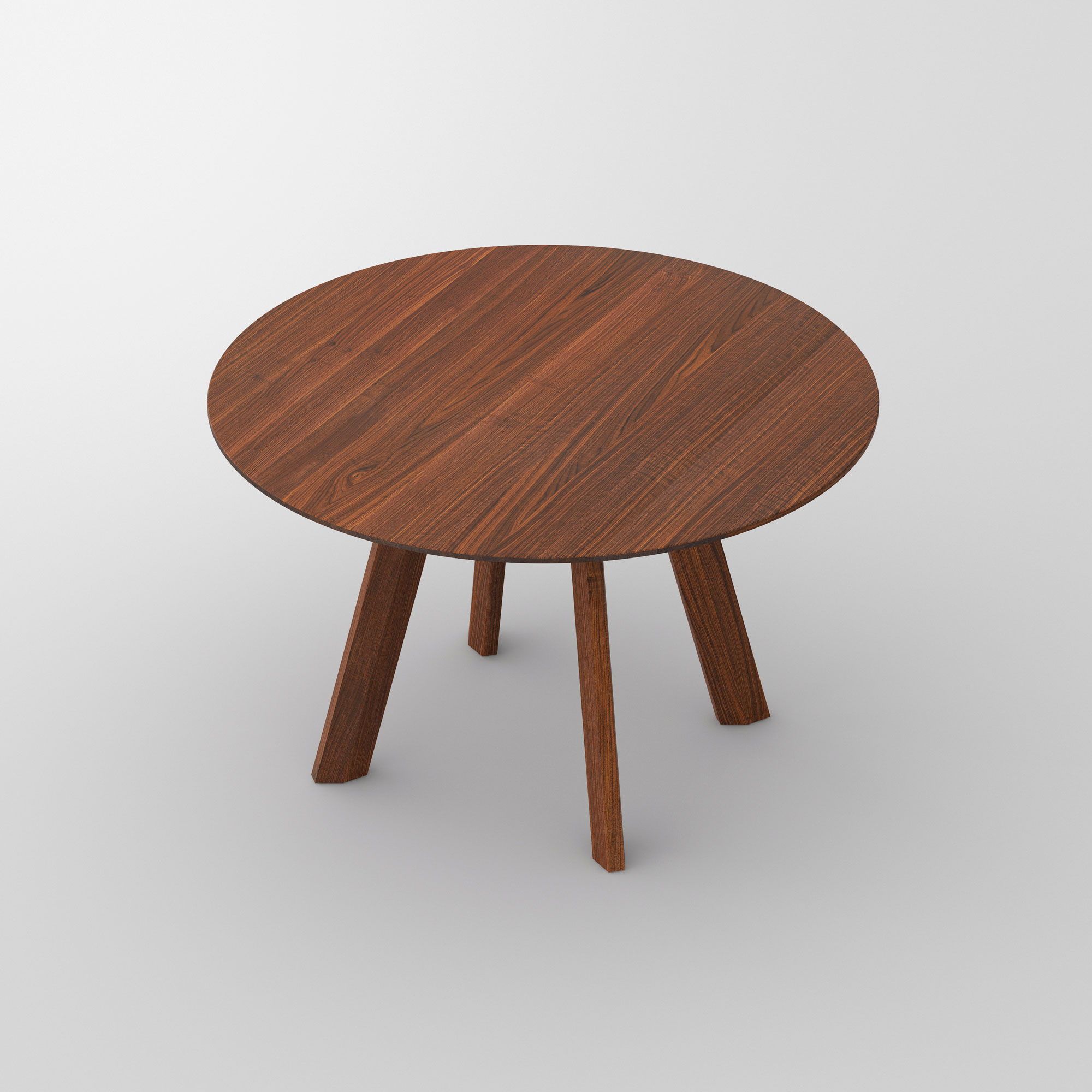 Designer Round Table RHOMBI ROUND cam3 custom made in solid wood by vitamin design