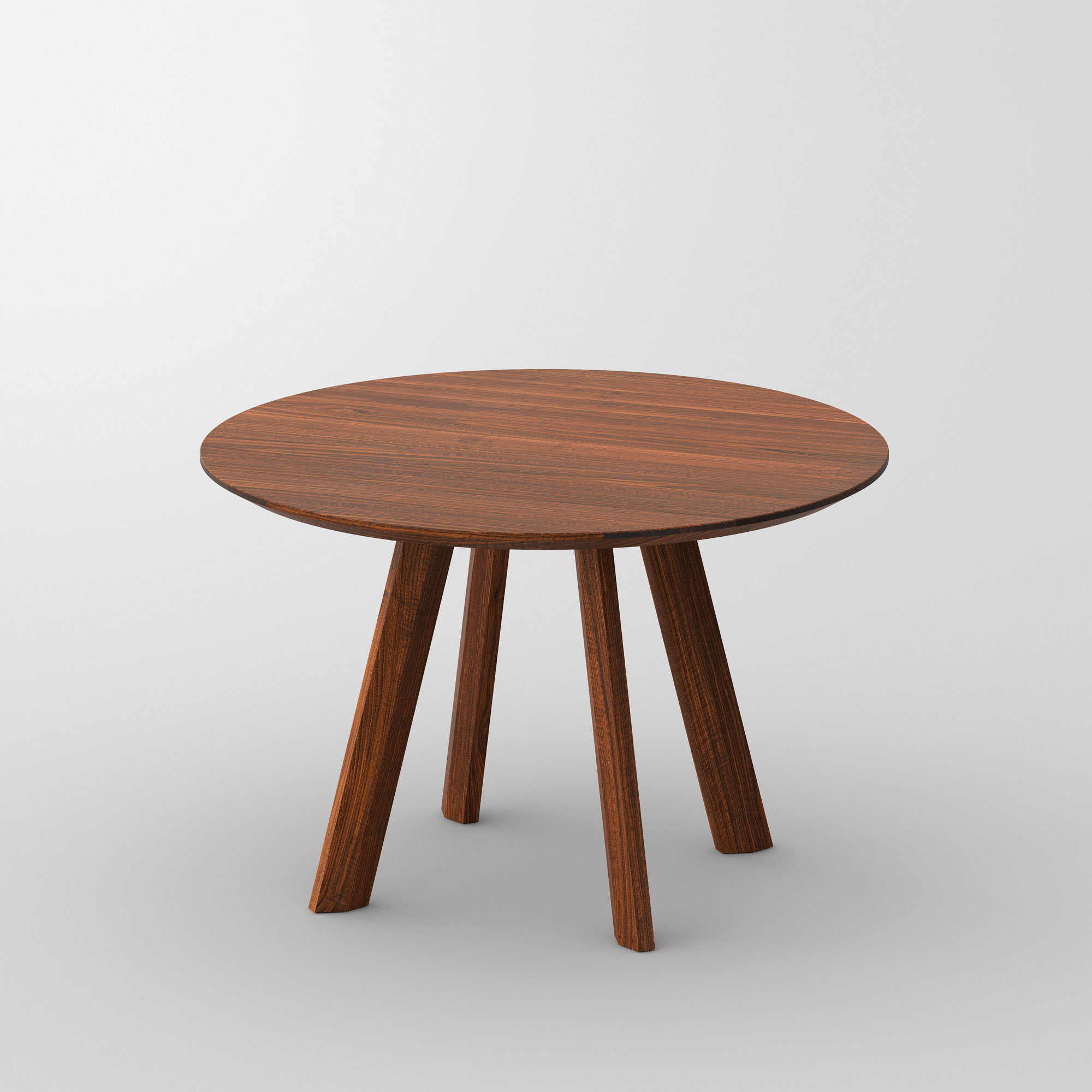 Designer Round Table RHOMBI ROUND cam1 custom made in solid wood by vitamin design