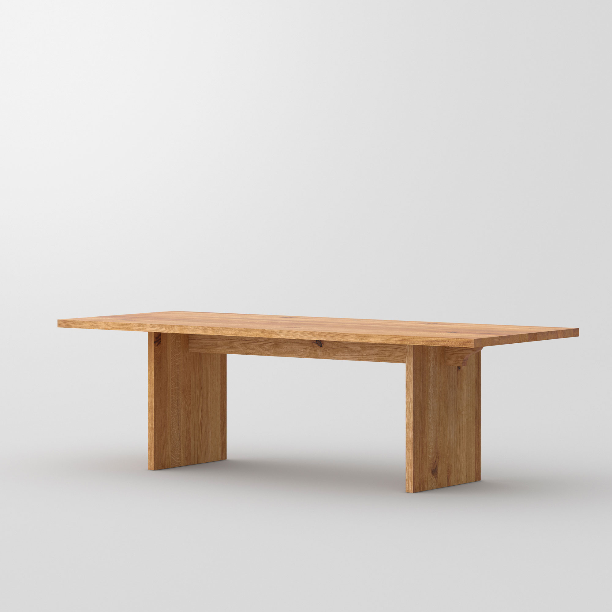 Gable Solid Wood Table SAGA cam1 custom made in solid wood by vitamin design