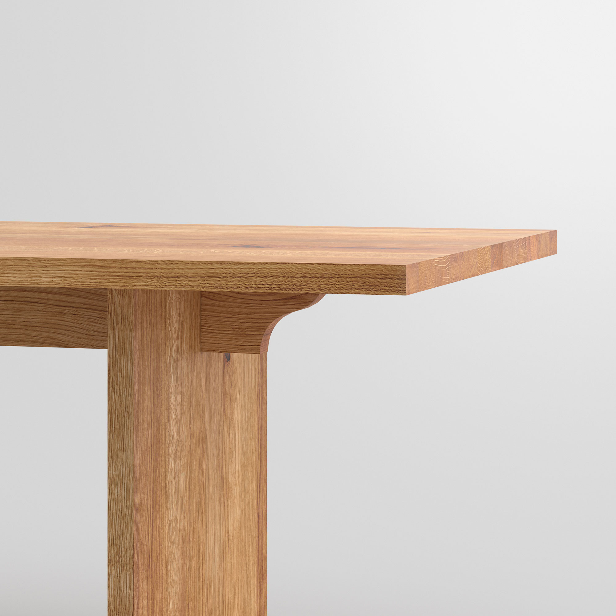 Gable Solid Wood Table SAGA cam2 custom made in solid wood by vitamin design