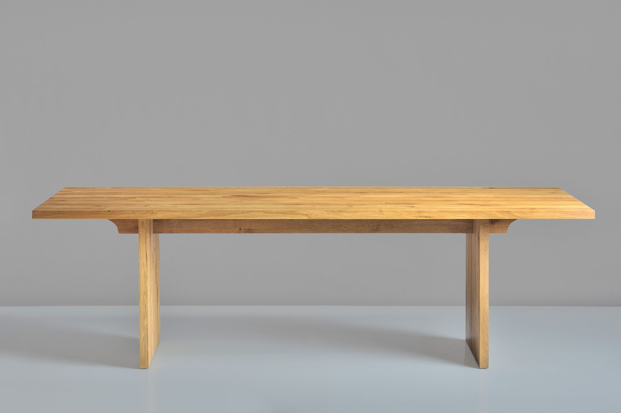 Gable Solid Wood Table SAGA 1408 custom made in solid wood by vitamin design