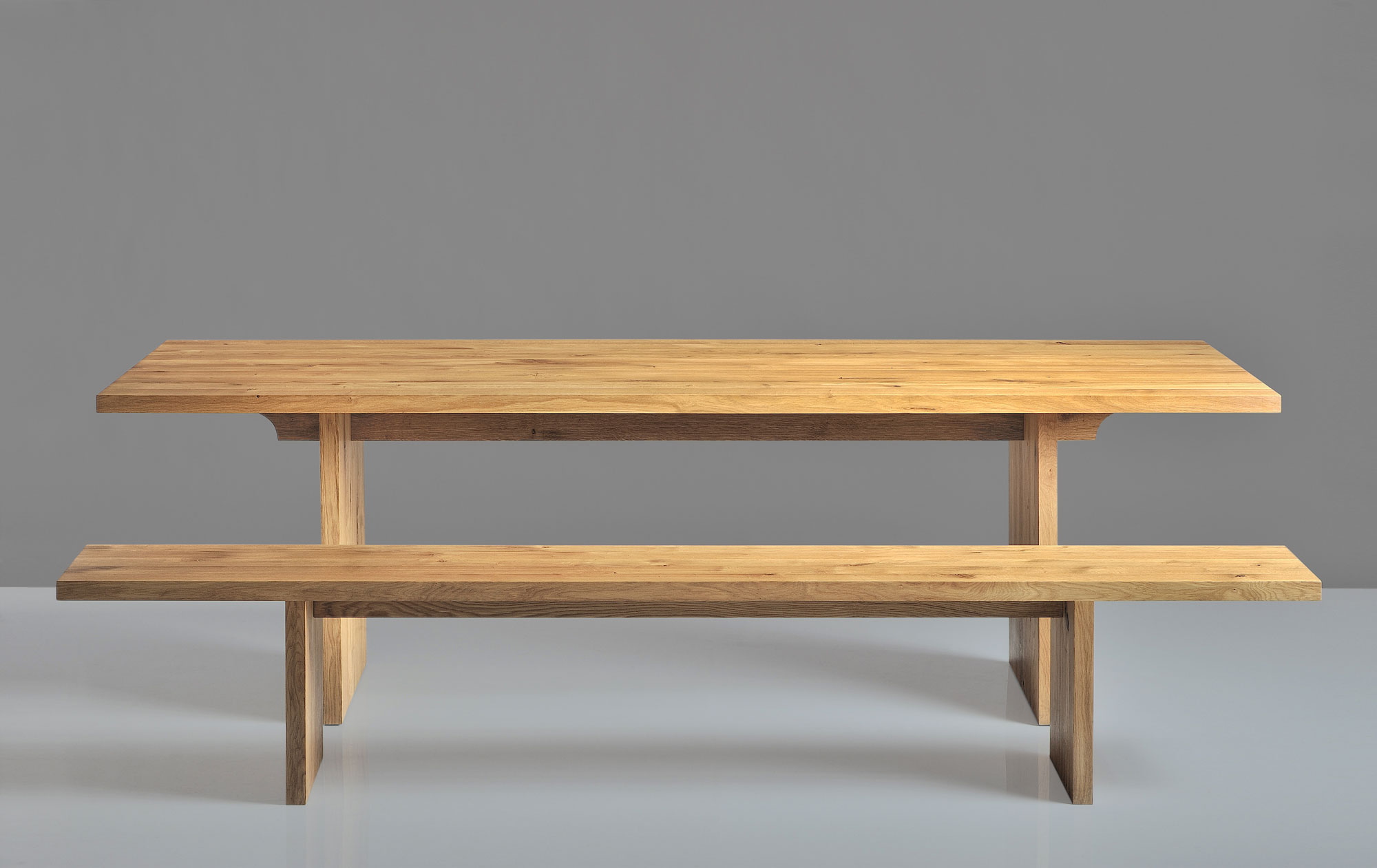 Gable Solid Wood Table SAGA 1422A custom made in solid wood by vitamin design