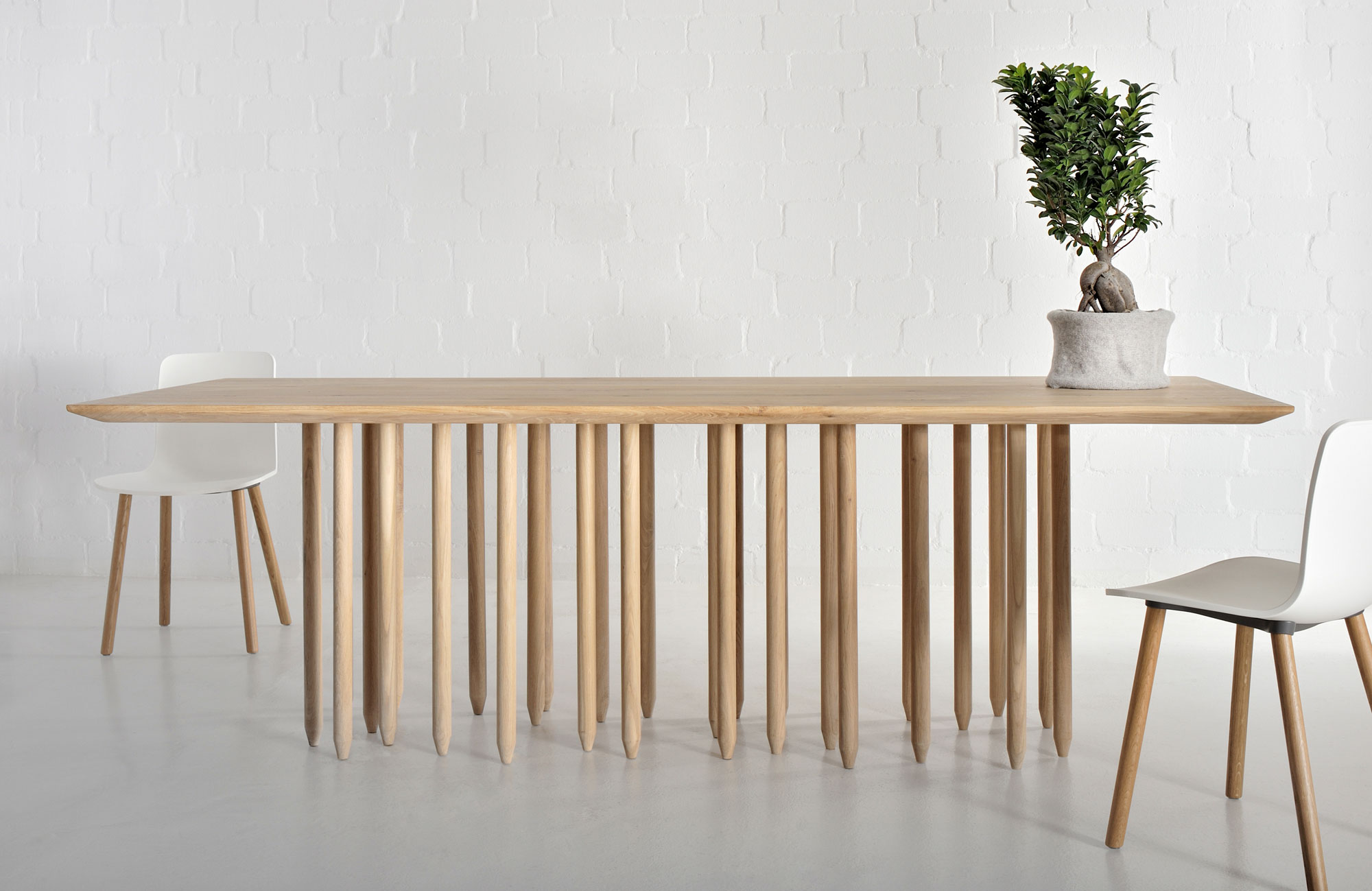 Designer Solid Wood Table STILUS 4387 custom made in solid wood by vitamin design