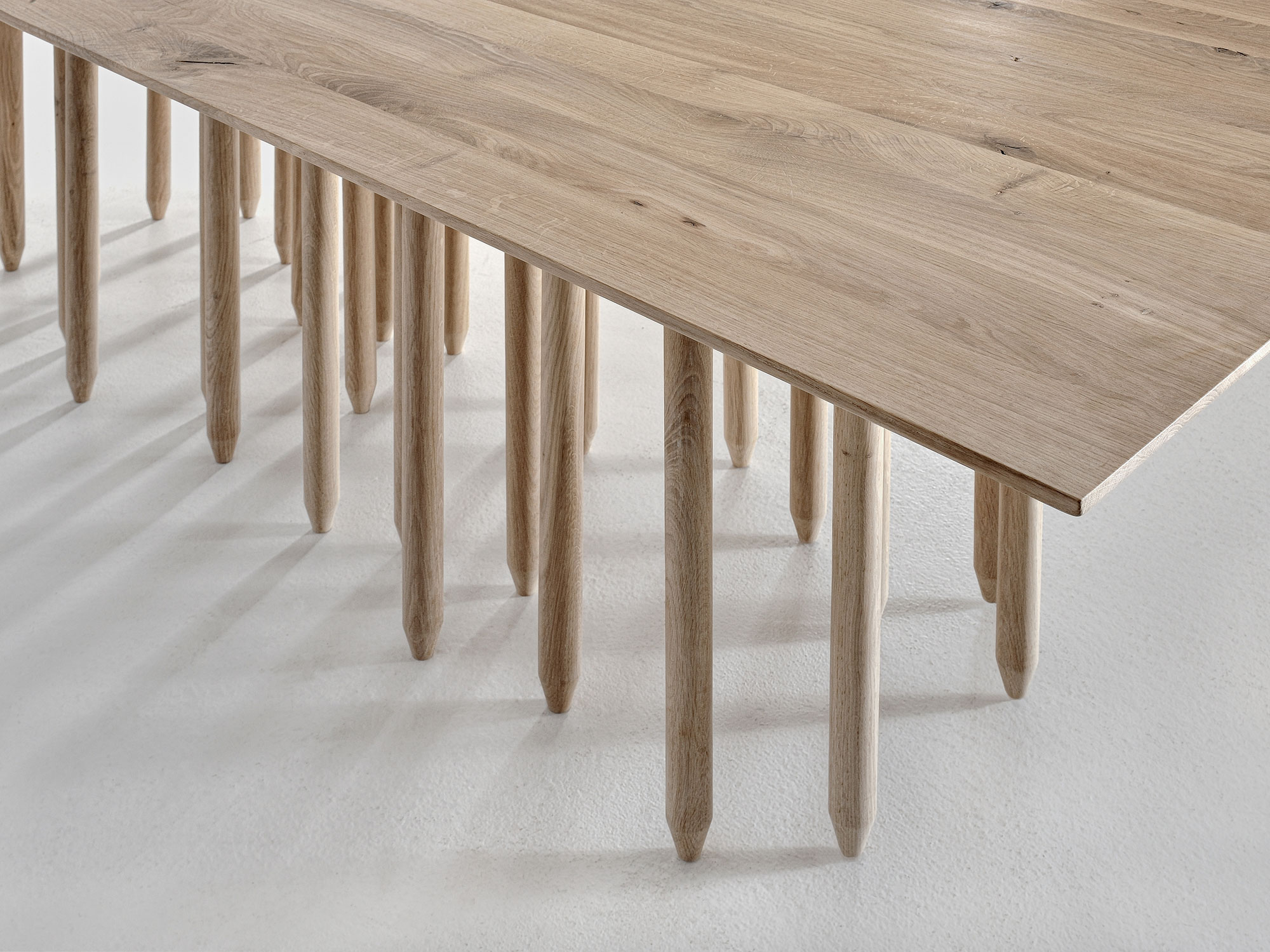 Designer Solid Wood Table STILUS 0293 custom made in solid wood by vitamin design