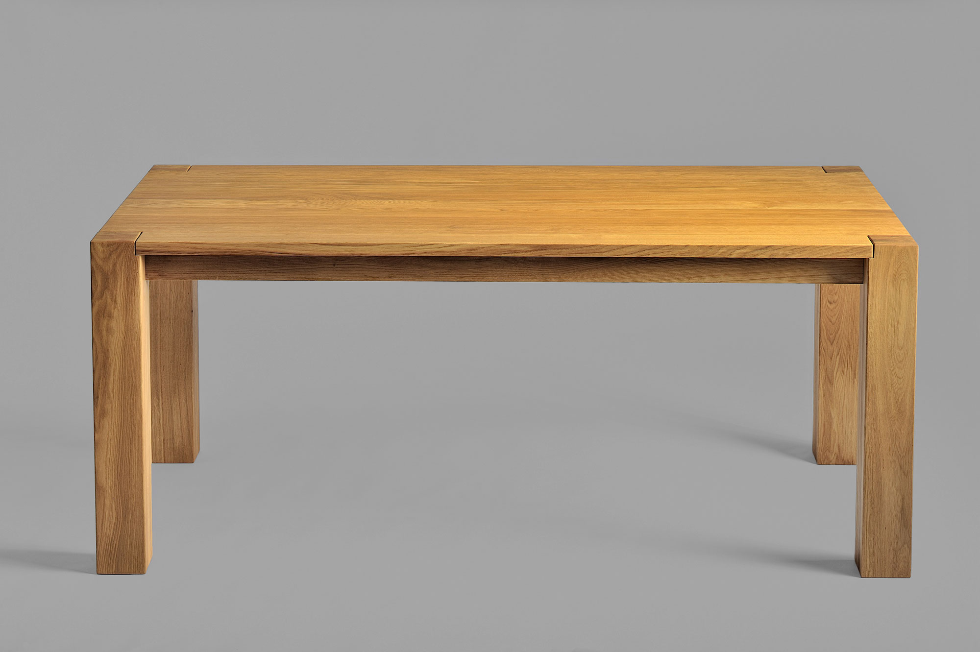 Rustic Oak Dining Table TAURUS 3 1326s custom made in solid wood by vitamin design