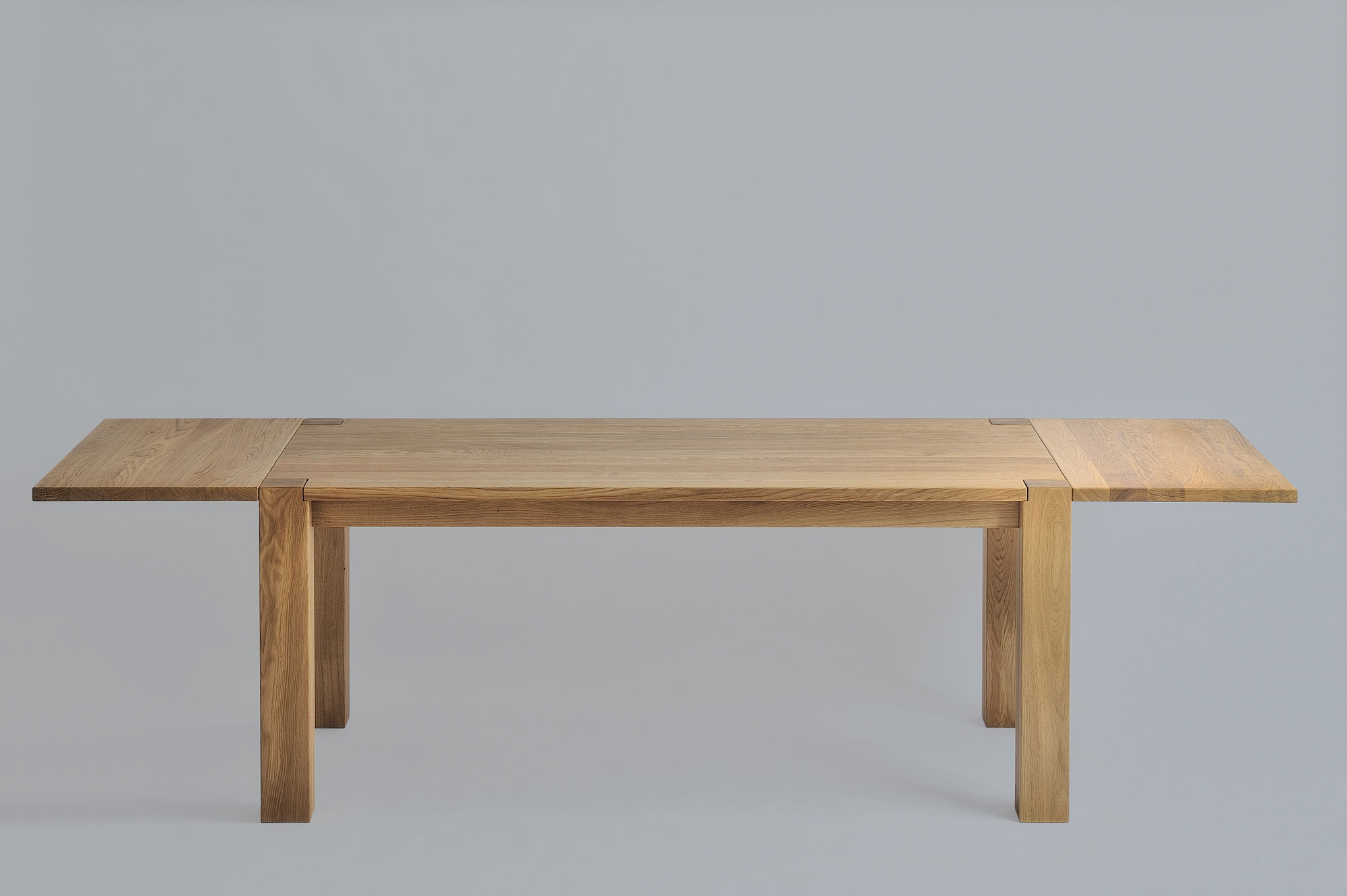 Rustic Oak Dining Table TAURUS 3 1344s custom made in solid wood by vitamin design