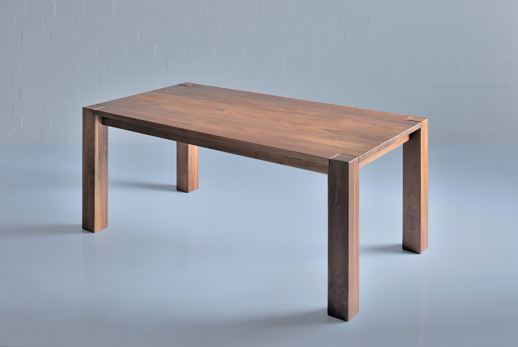 Rustic Oak Dining Table TAURUS 3 1165b custom made in solid wood by vitamin design