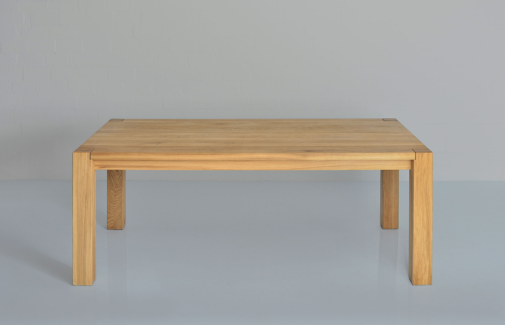 Rustic Oak Table TAURUS 4 B11X11 1112 custom made in solid wood by vitamin design