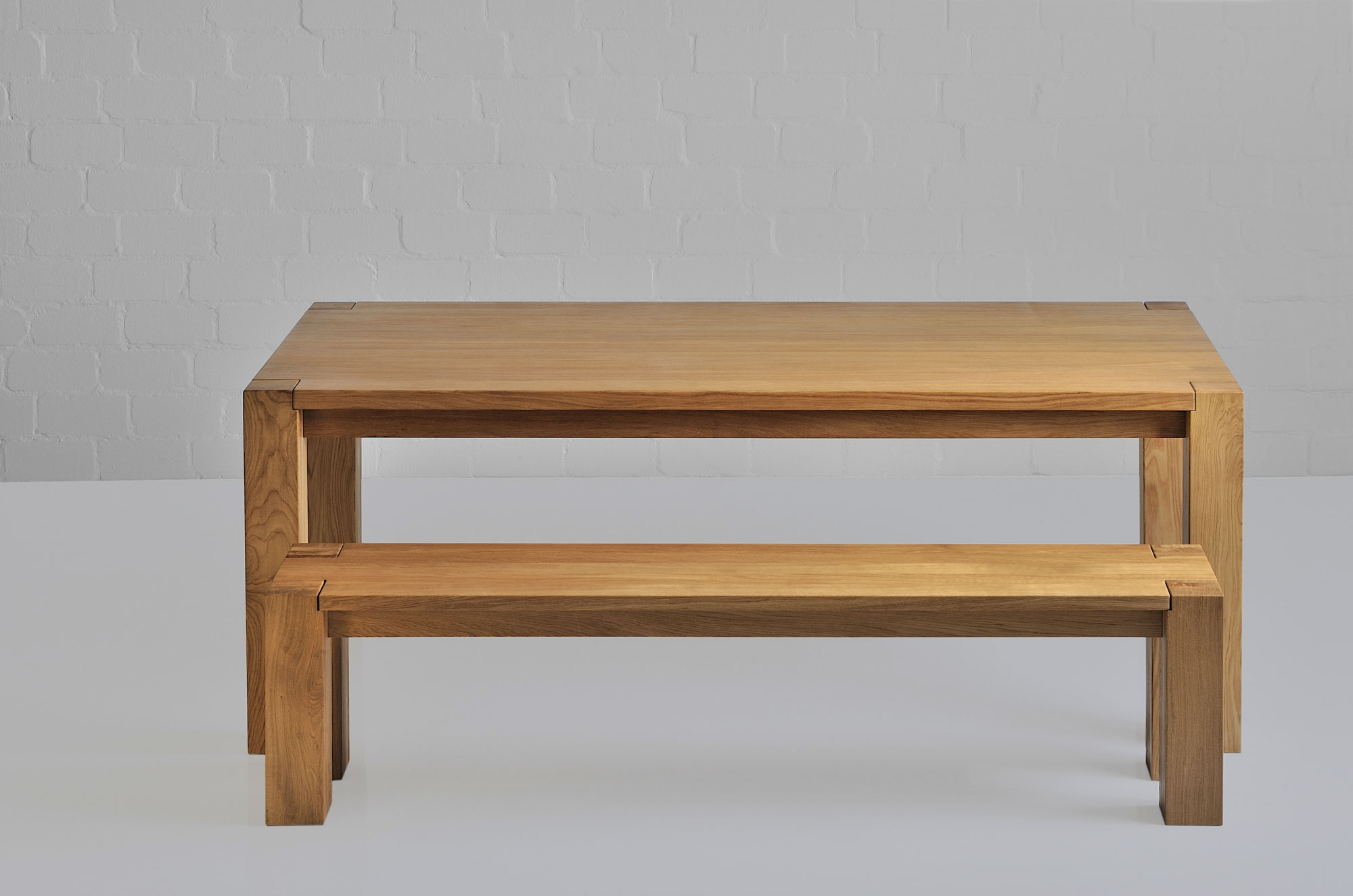 Rustic Oak Table TAURUS 4 B11X11 1368 custom made in solid wood by vitamin design