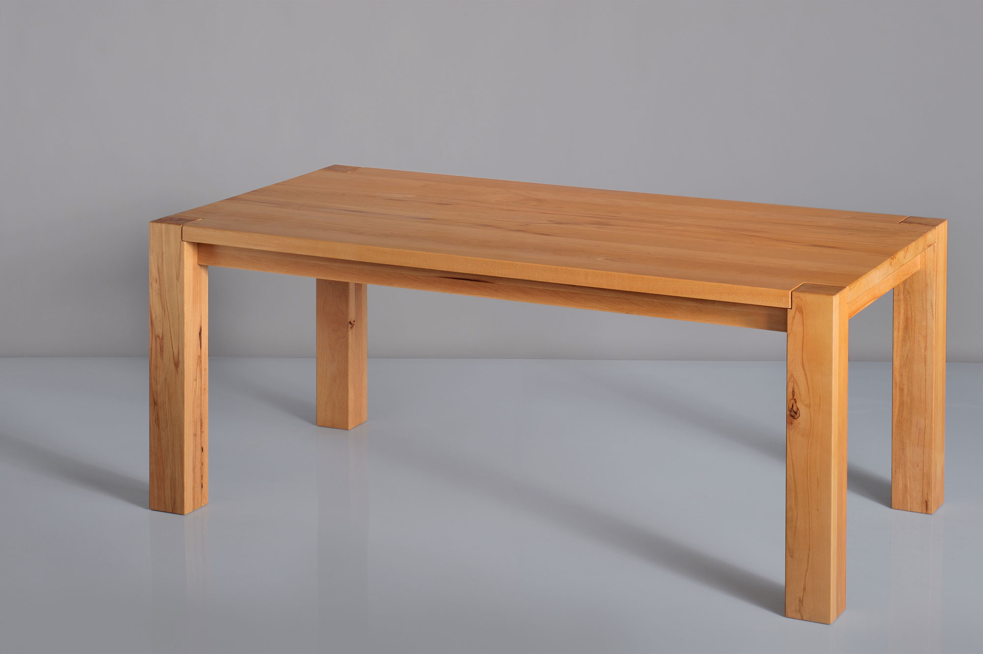 Rustic Oak Table TAURUS 4 B11X11 t4b11KBU1637 custom made in solid wood by vitamin design