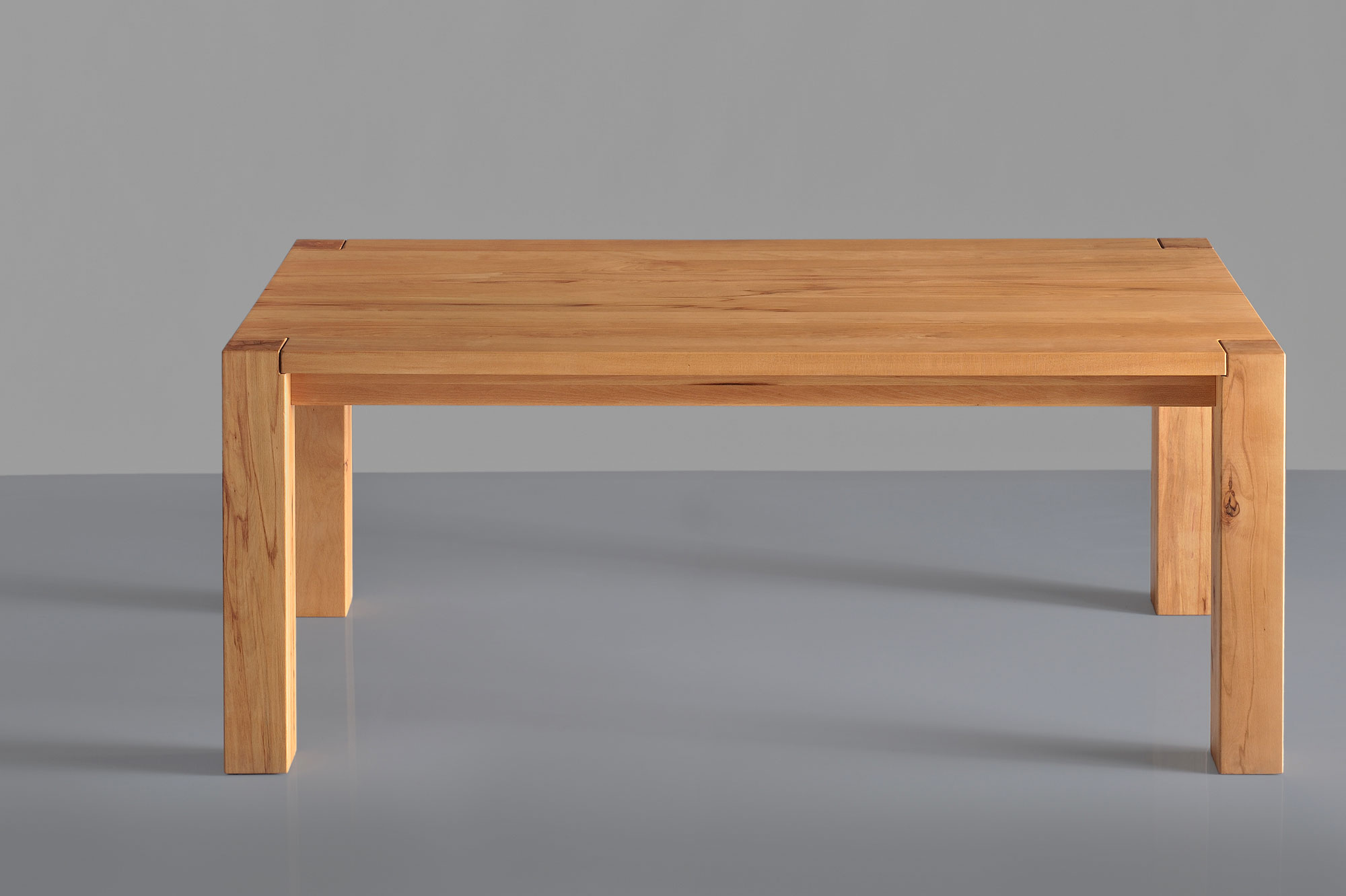 Rustic Oak Table TAURUS 4 B11X11 t4b11KBU1621 custom made in solid wood by vitamin design
