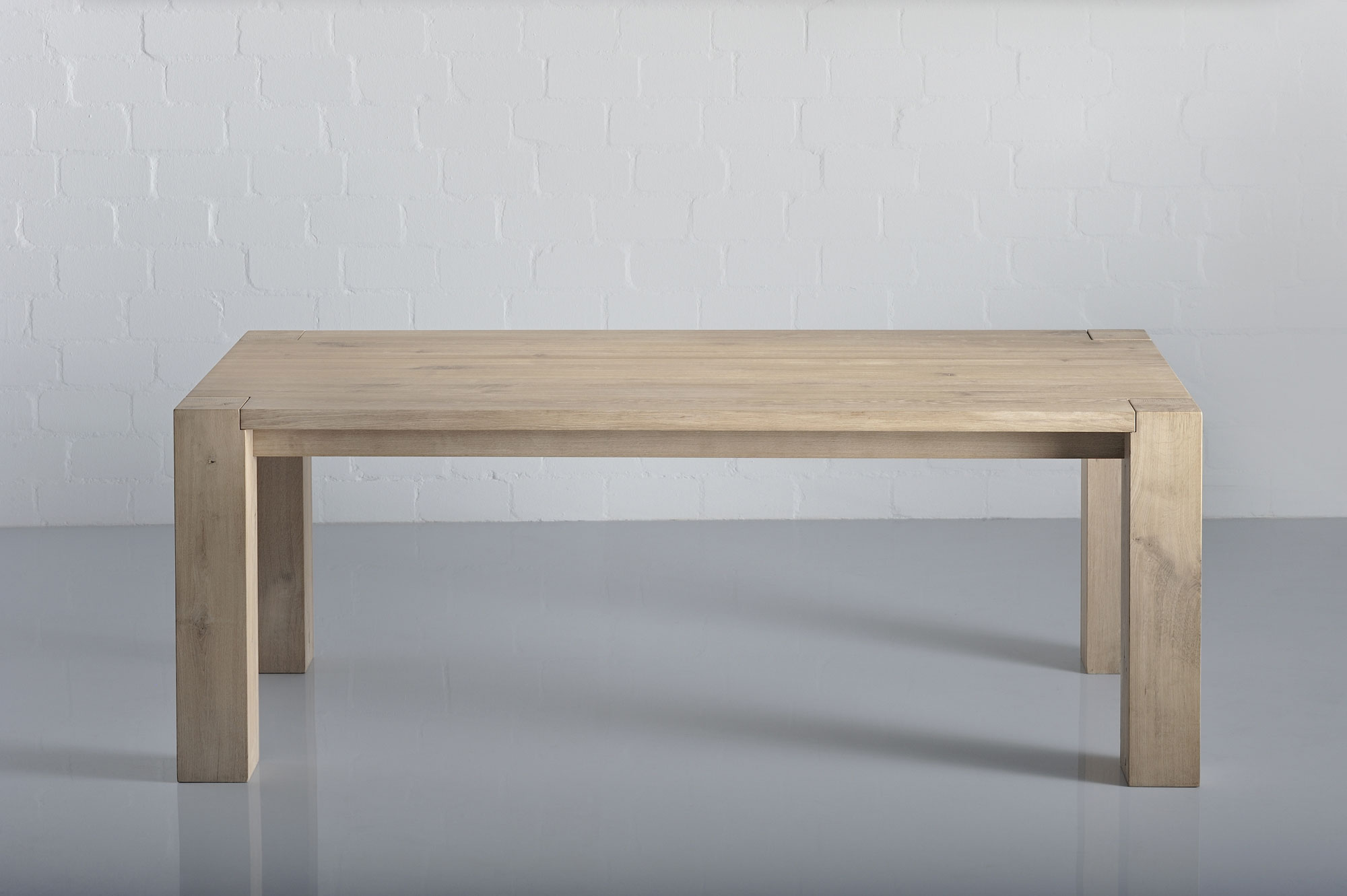 Rustic Solid Wood Table TAURUS 4 B14X14 1564 custom made in solid wood by vitamin design