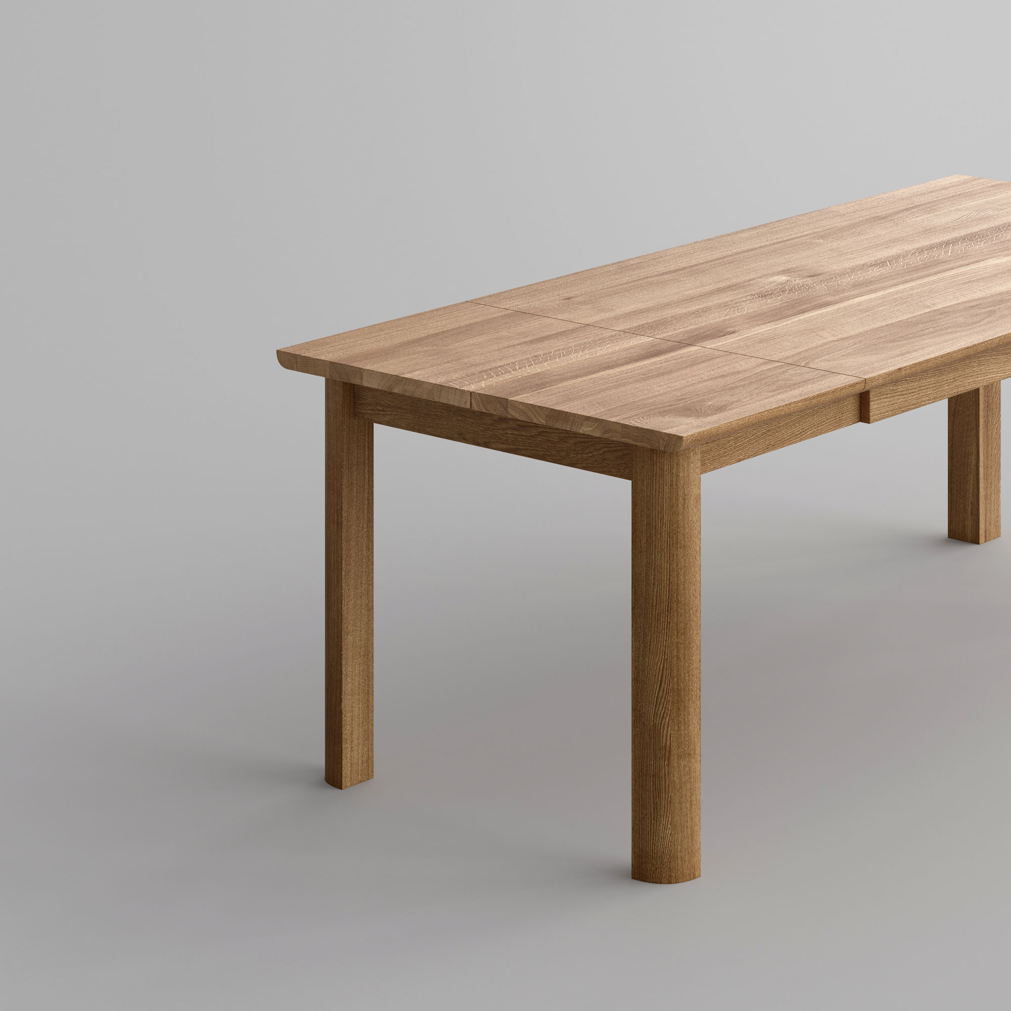 Extendable Dining Table VIVUS BUTTERFLY Cam2-SP1 custom made in solid wood by vitamin design