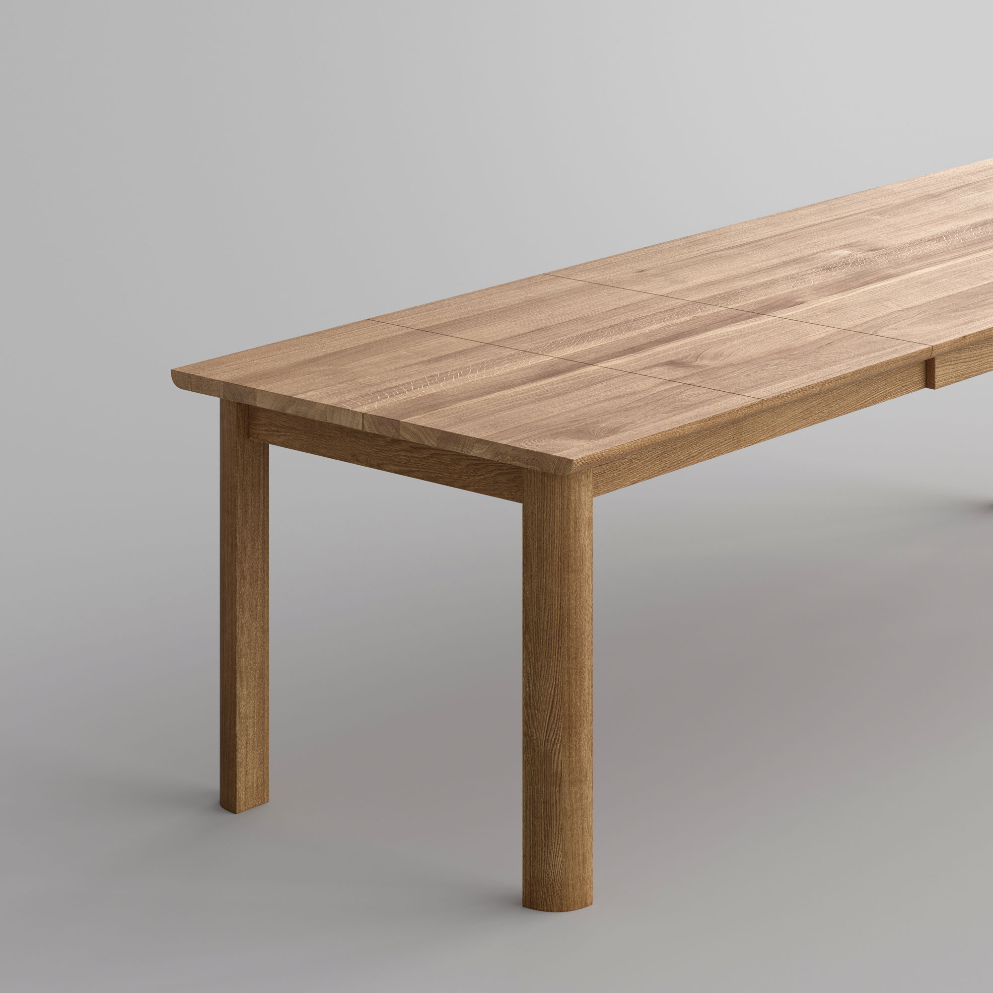 Extendable Dining Table VIVUS BUTTERFLY Cam2-SP2 custom made in solid wood by vitamin design
