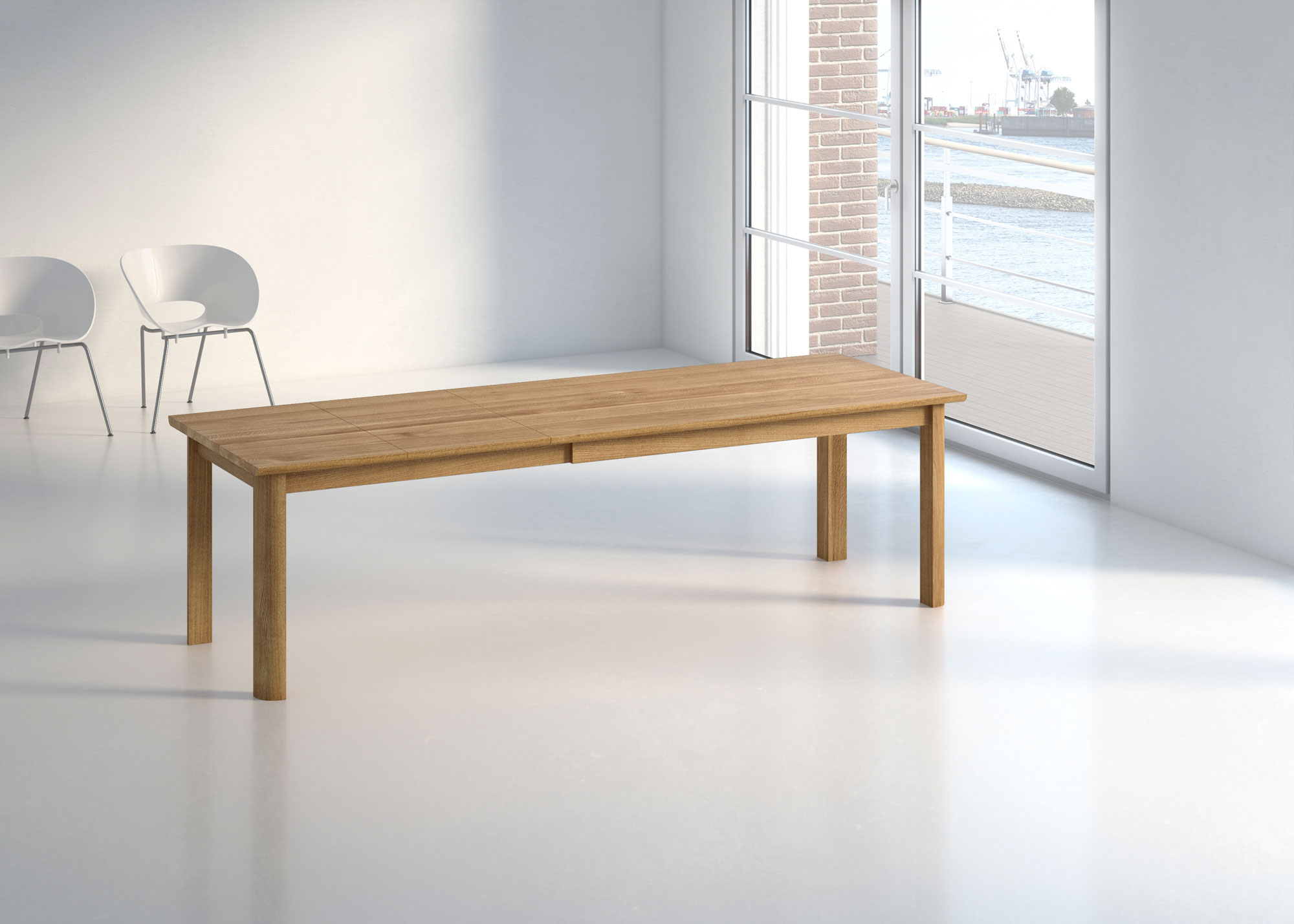 Extendable Dining Table VIVUS BUTTERFLY int-pk custom made in solid wood by vitamin design