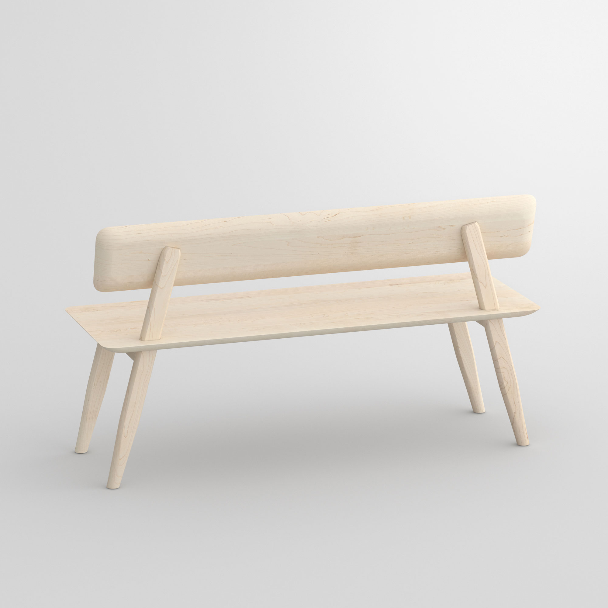 Bench with Back AETAS RL cam1 custom made in solid wood by vitamin design