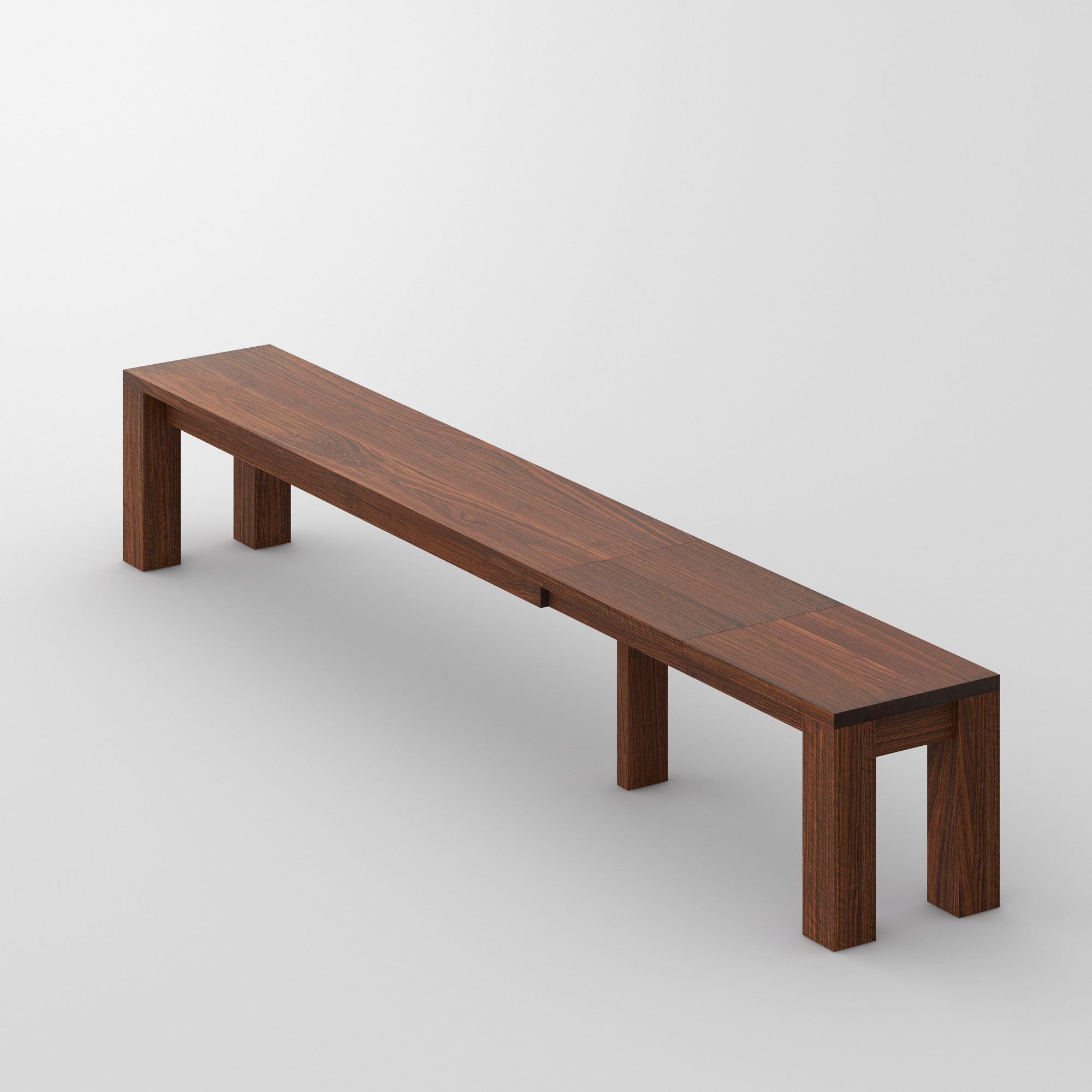Extendable Bench CUBUS EP 3 cam3 custom made in solid wood by vitamin design