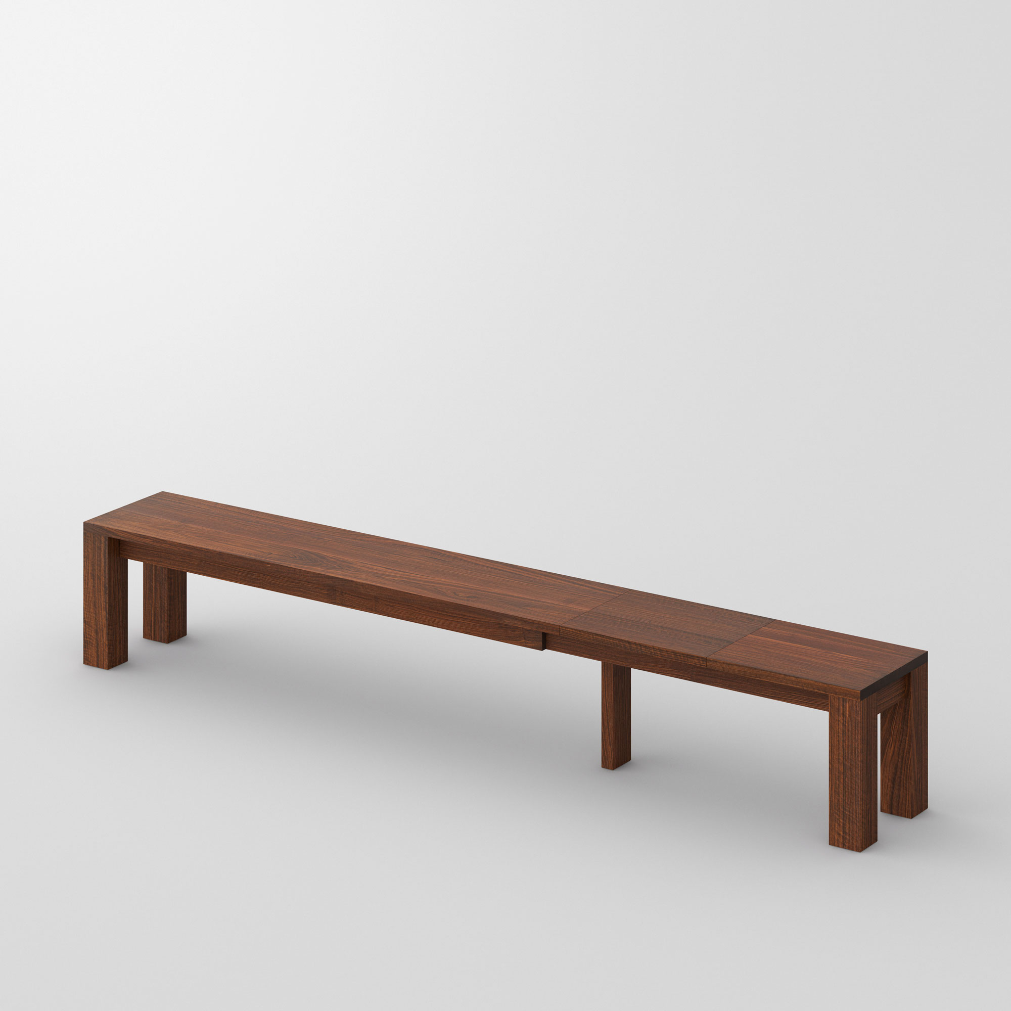 Extendable Bench CUBUS EP 3 cam1 custom made in solid wood by vitamin design