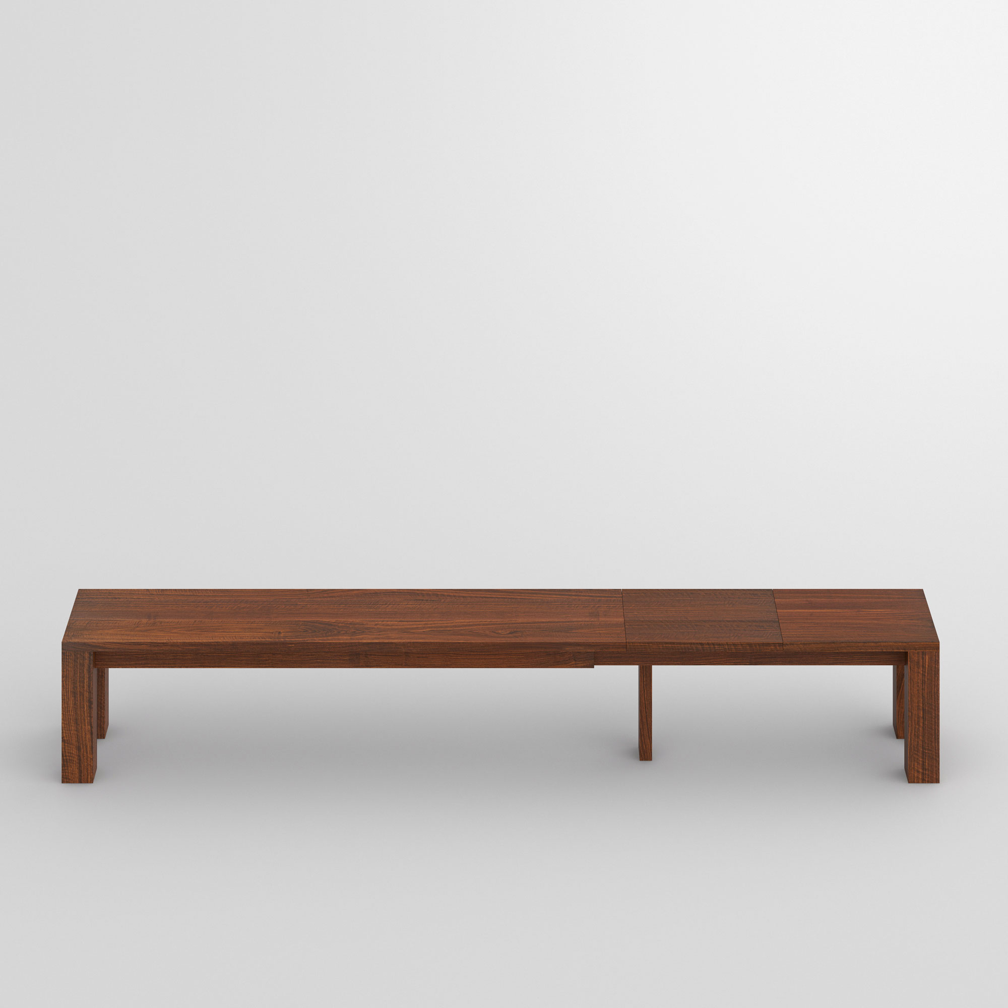 Extendable Bench CUBUS EP 3 cam2 custom made in solid wood by vitamin design