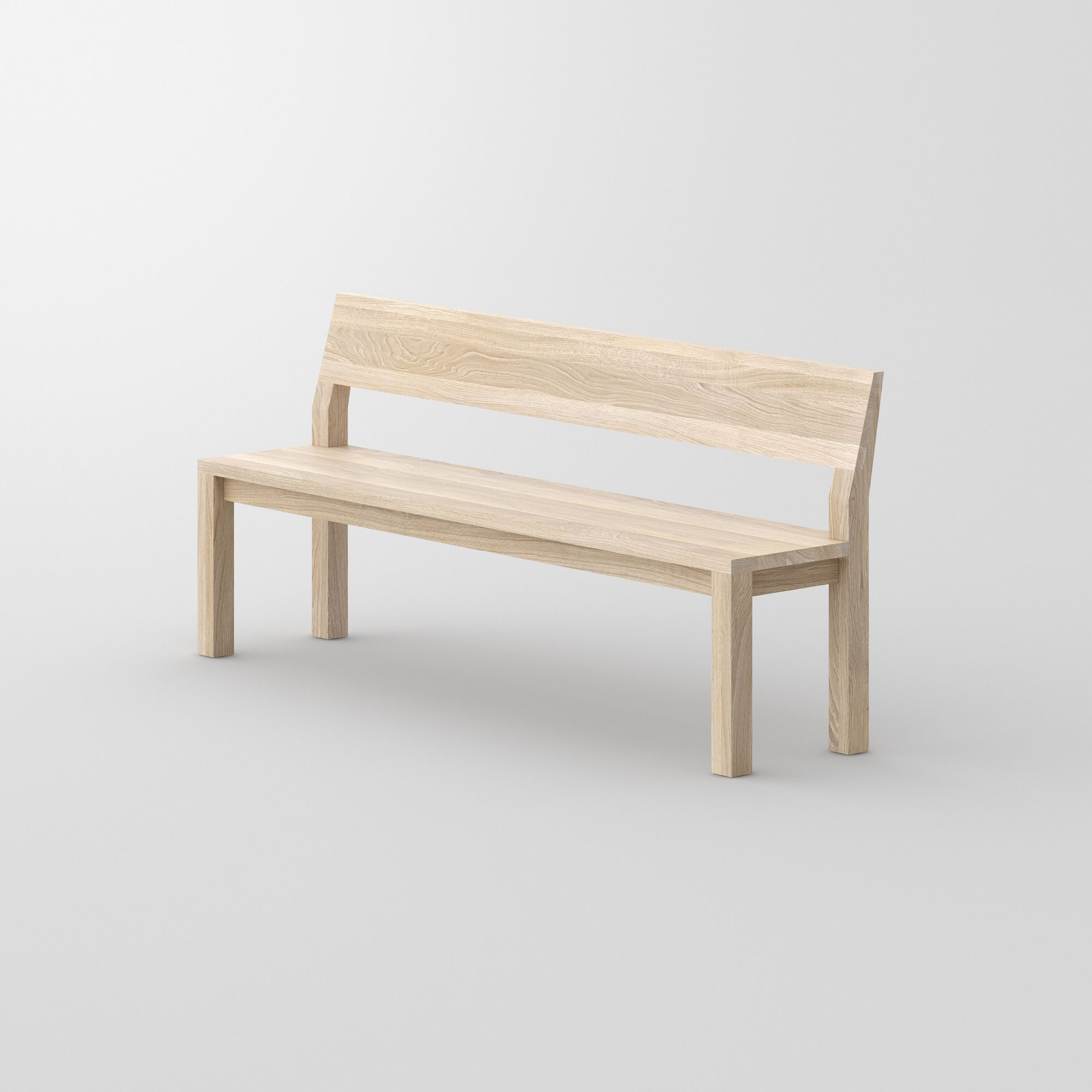 Bench with Backrest CUBUS RL cam2 custom made in solid wood by vitamin design